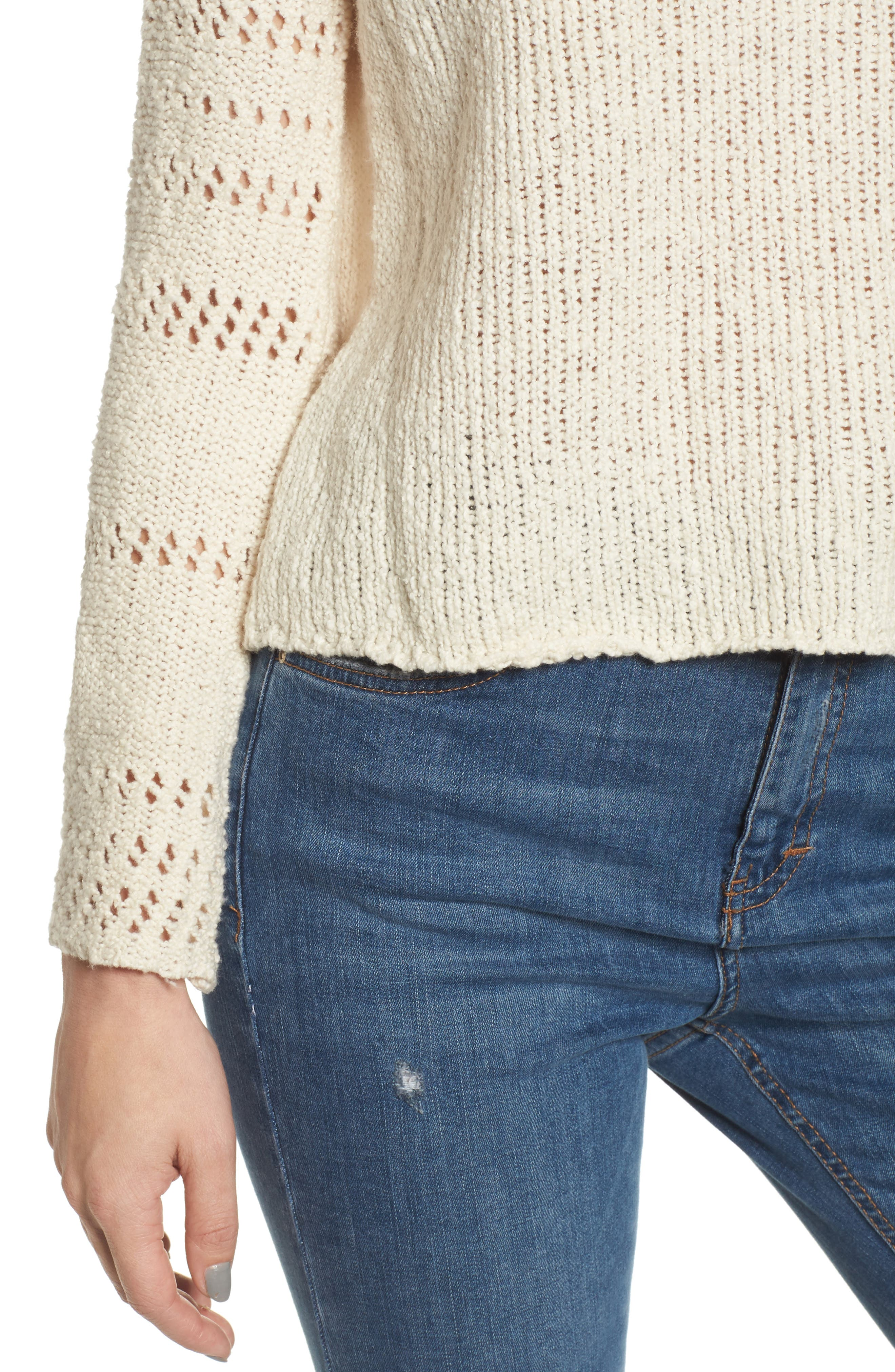 Cozy Love Bell Sleeve Sweater,                             Alternate thumbnail 4, color,                             190