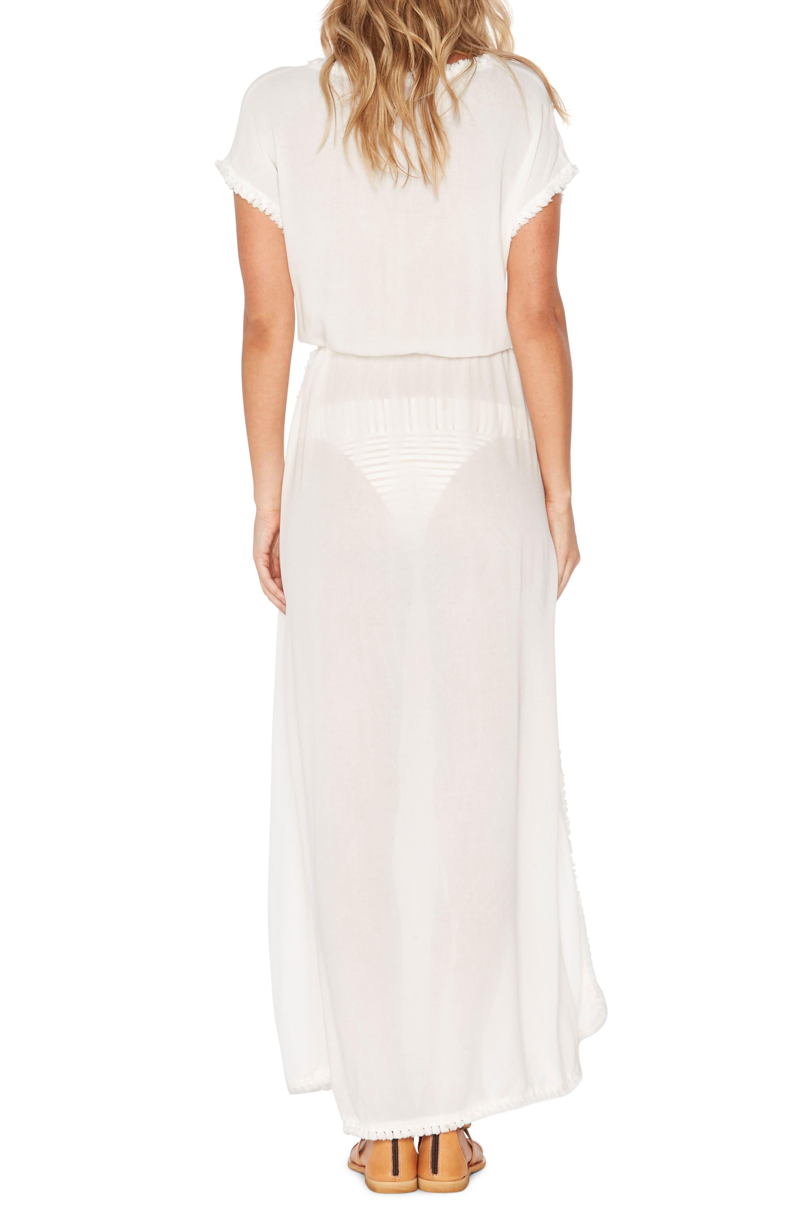 Noveau Cover-Up Maxi Dress,                             Alternate thumbnail 2, color,                             100