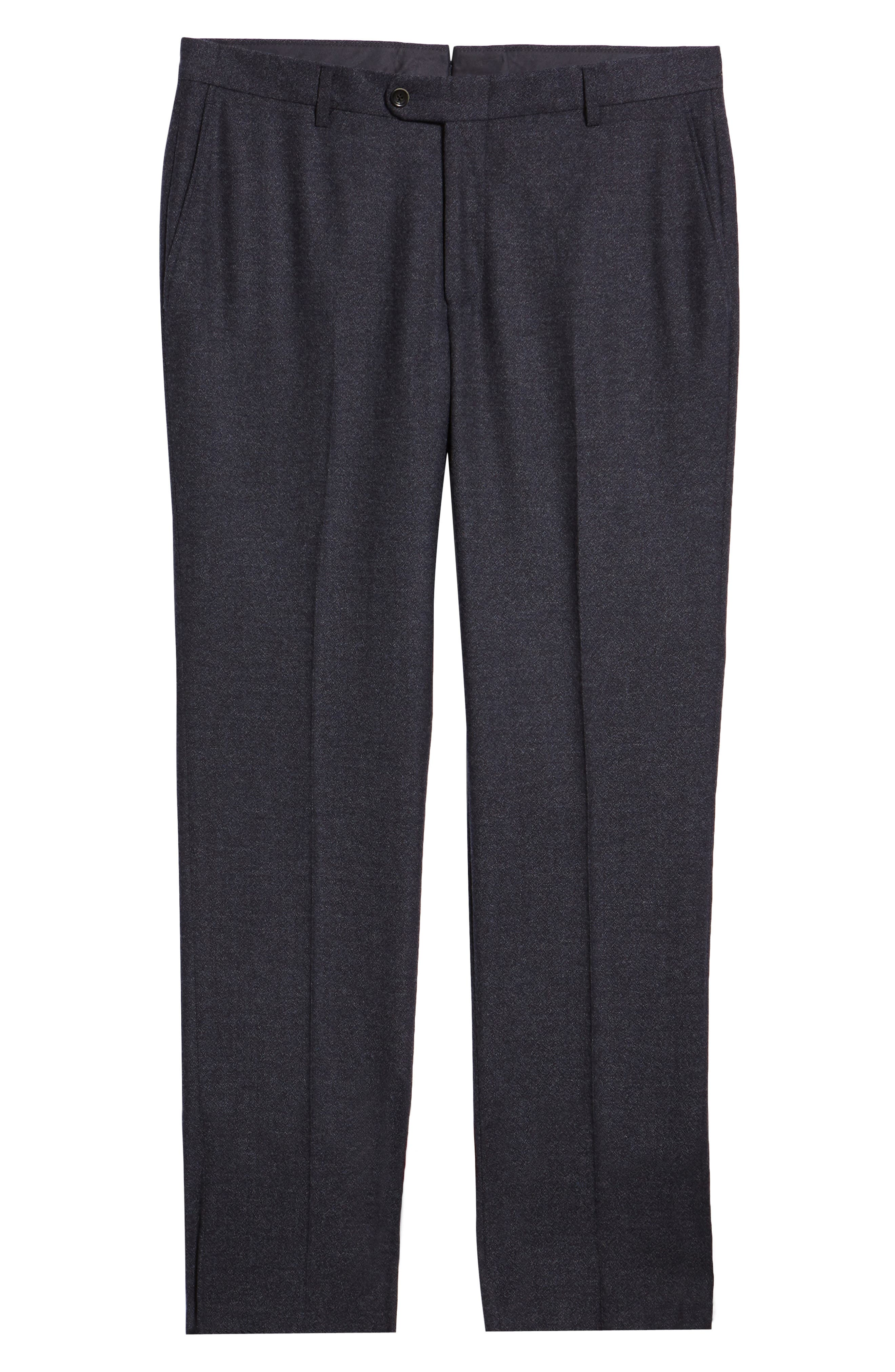 HICKEY FREEMAN,                             Classic Fit Solid Trousers,                             Alternate thumbnail 6, color,                             GREY