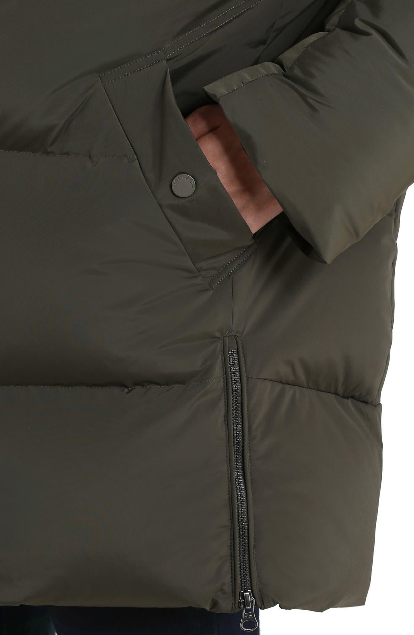 WOOLRICH,                             Aurora Water Repellent Puffy Down Coat,                             Alternate thumbnail 2, color,                             DARK GREEN