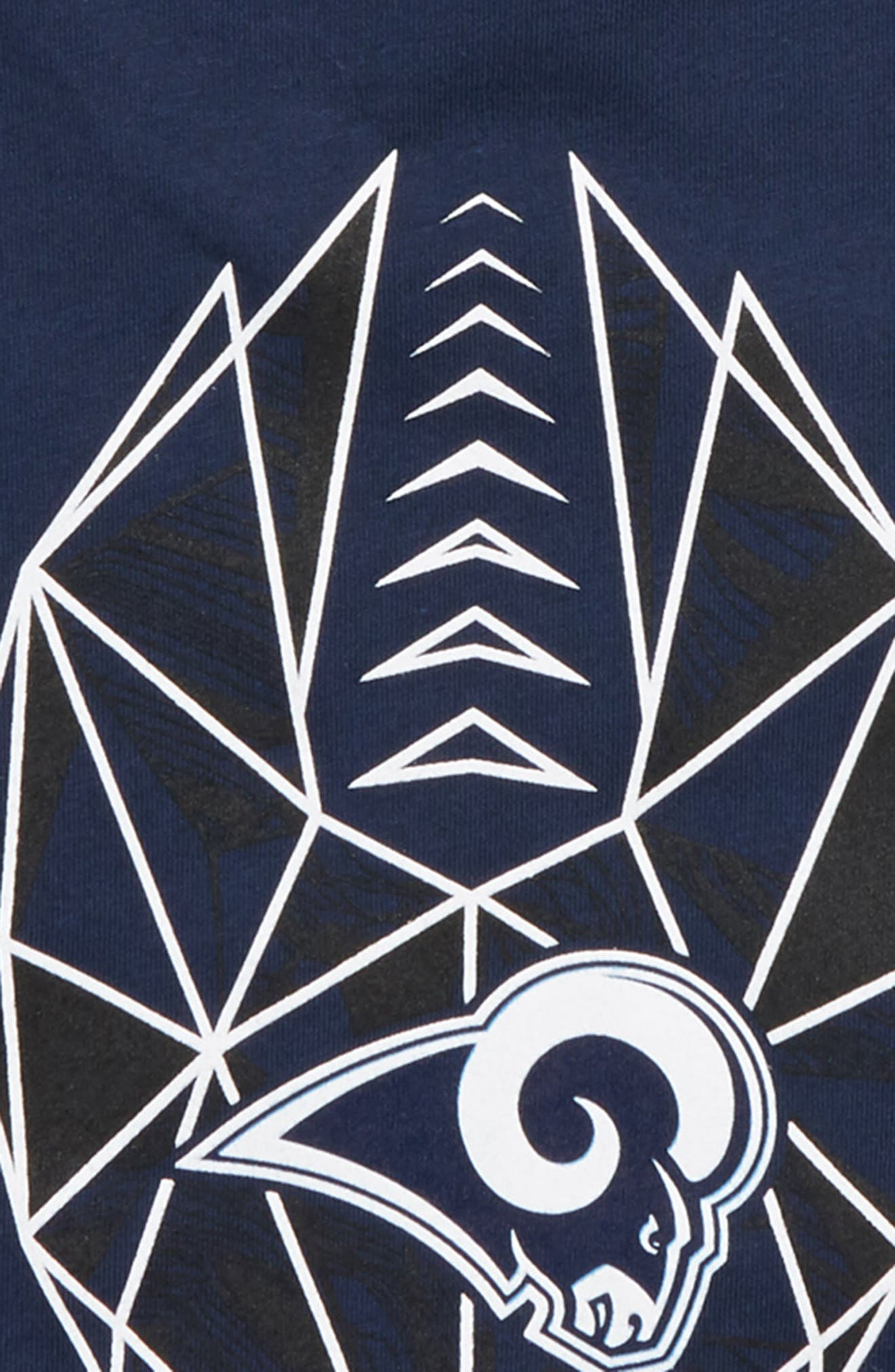 NFL Los Angeles Rams Dry Legend Lift T-Shirt,                             Alternate thumbnail 2, color,                             NAVY