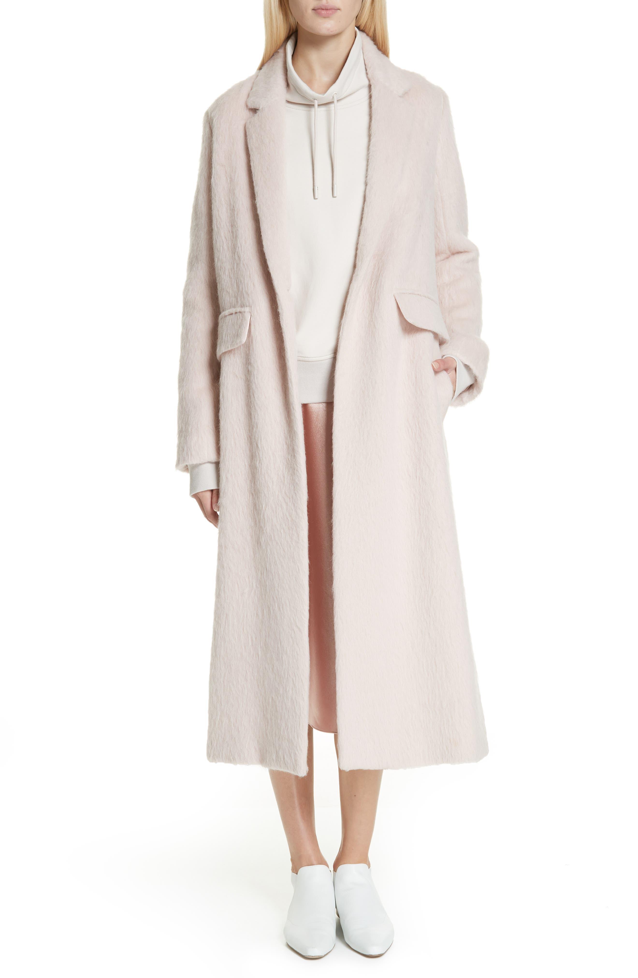 Long Faux Fur Coat,                             Main thumbnail 1, color,                             PALE DUSK