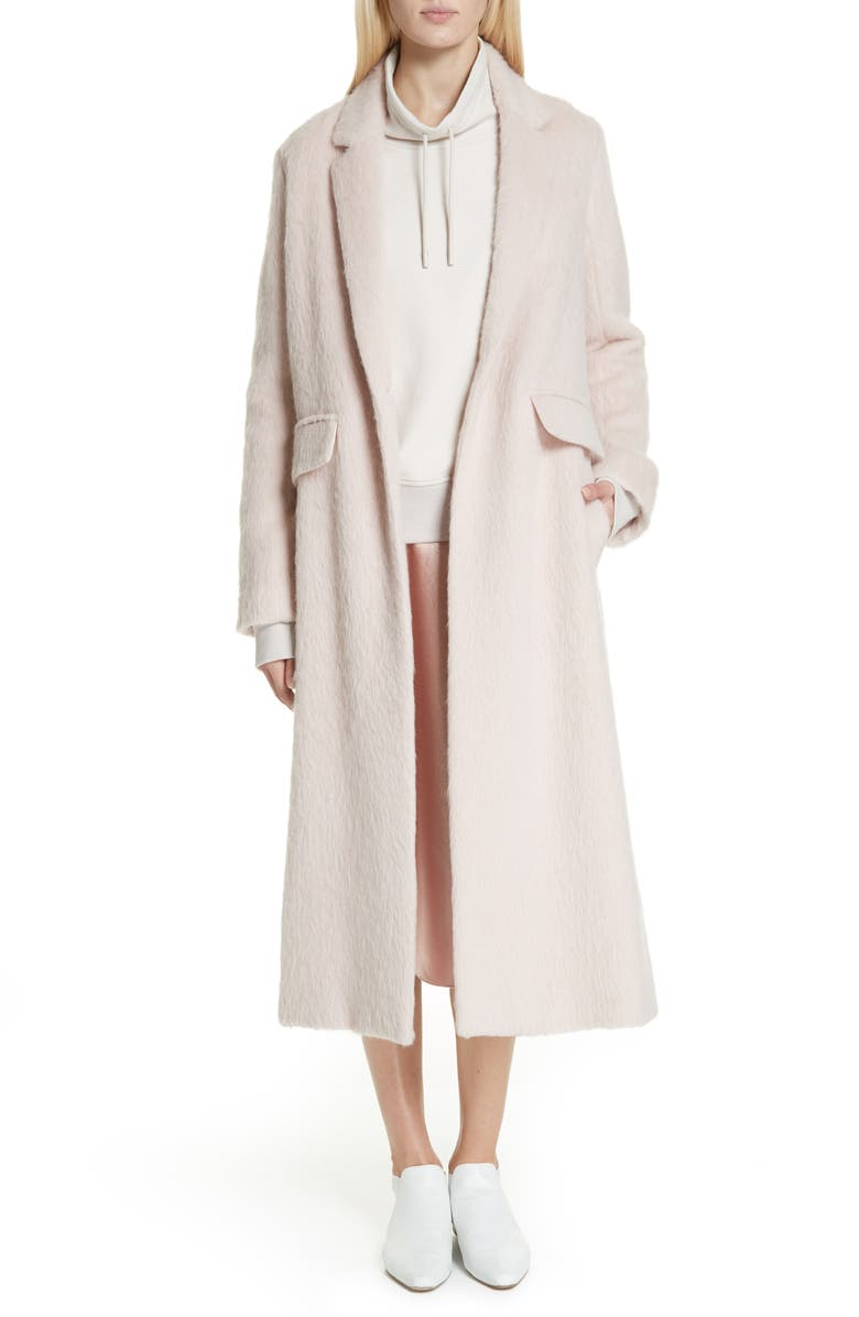 Long Faux Fur Coat,                         Main,                         color, PALE DUSK