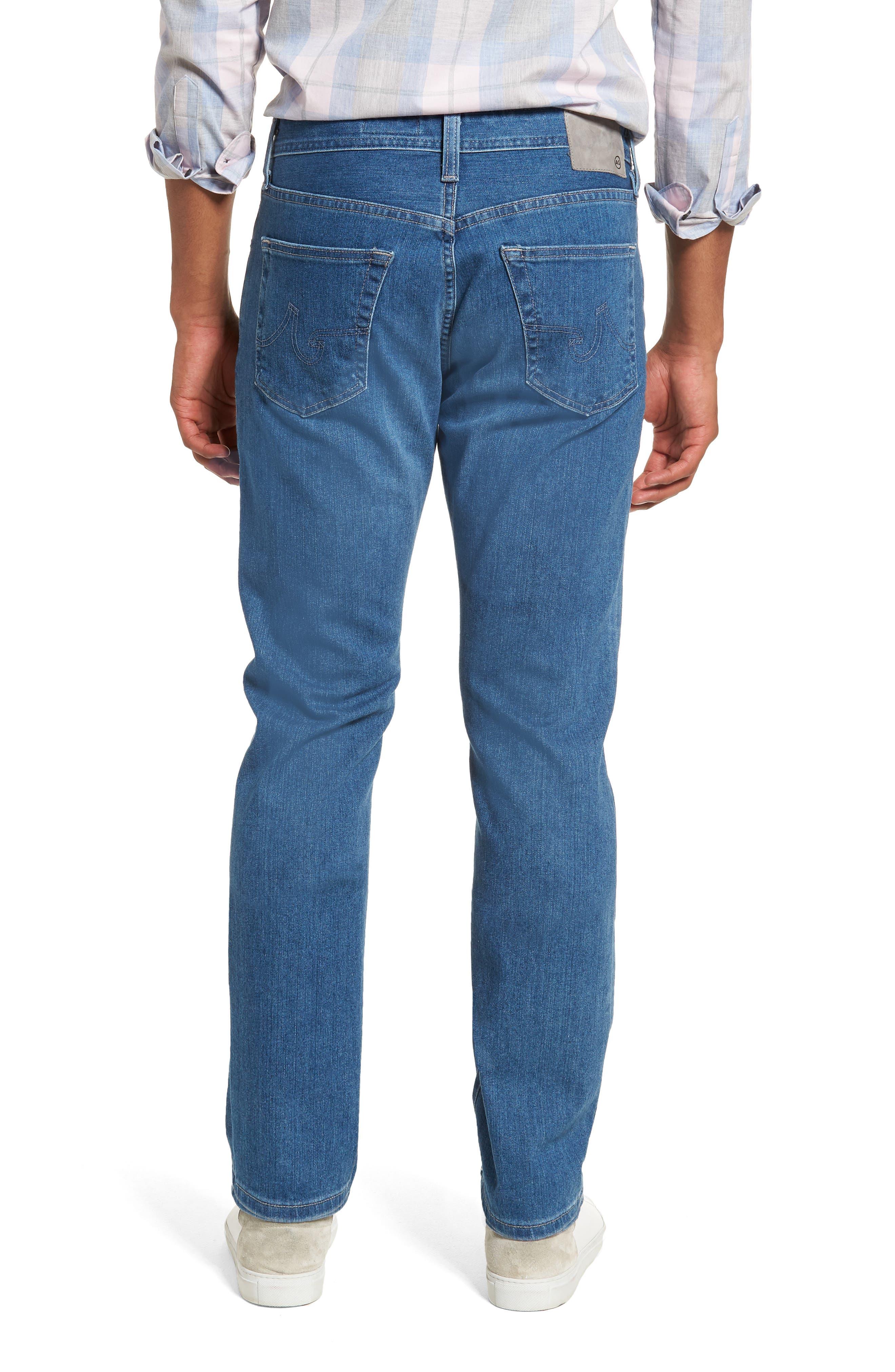 Everett Slim Straight Leg Jeans,                             Alternate thumbnail 2, color,                             SEA WAVE