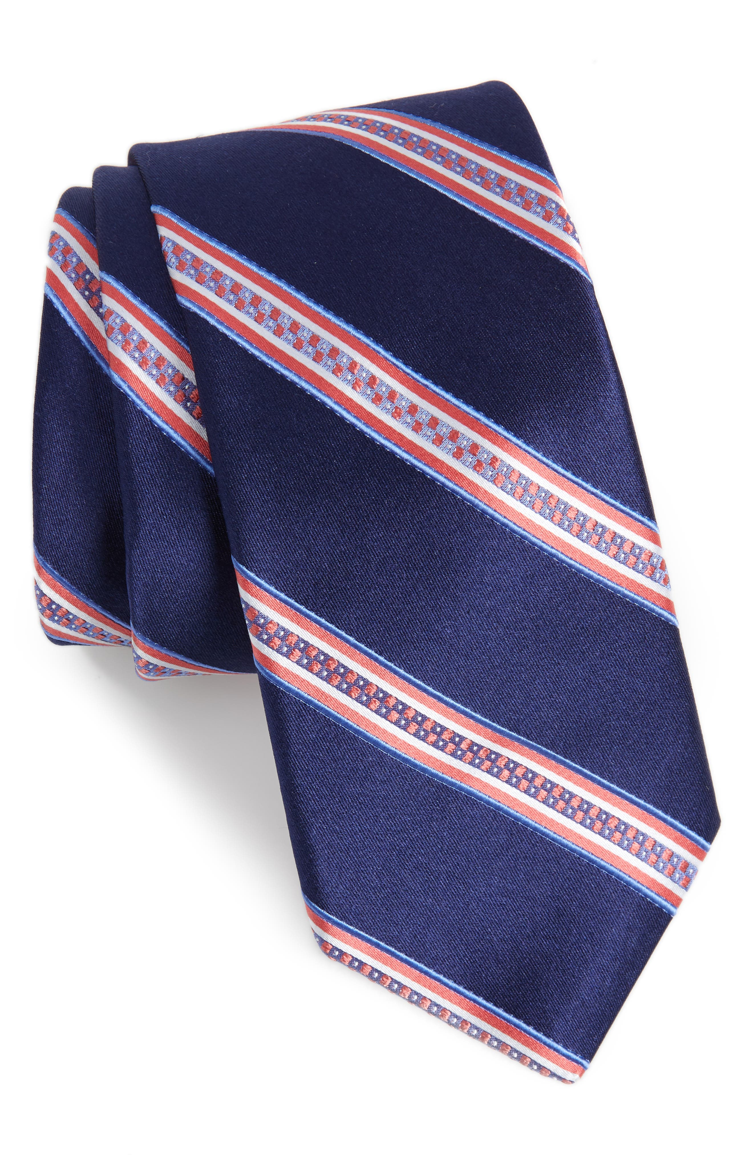 Stripe Silk Tie,                         Main,                         color,