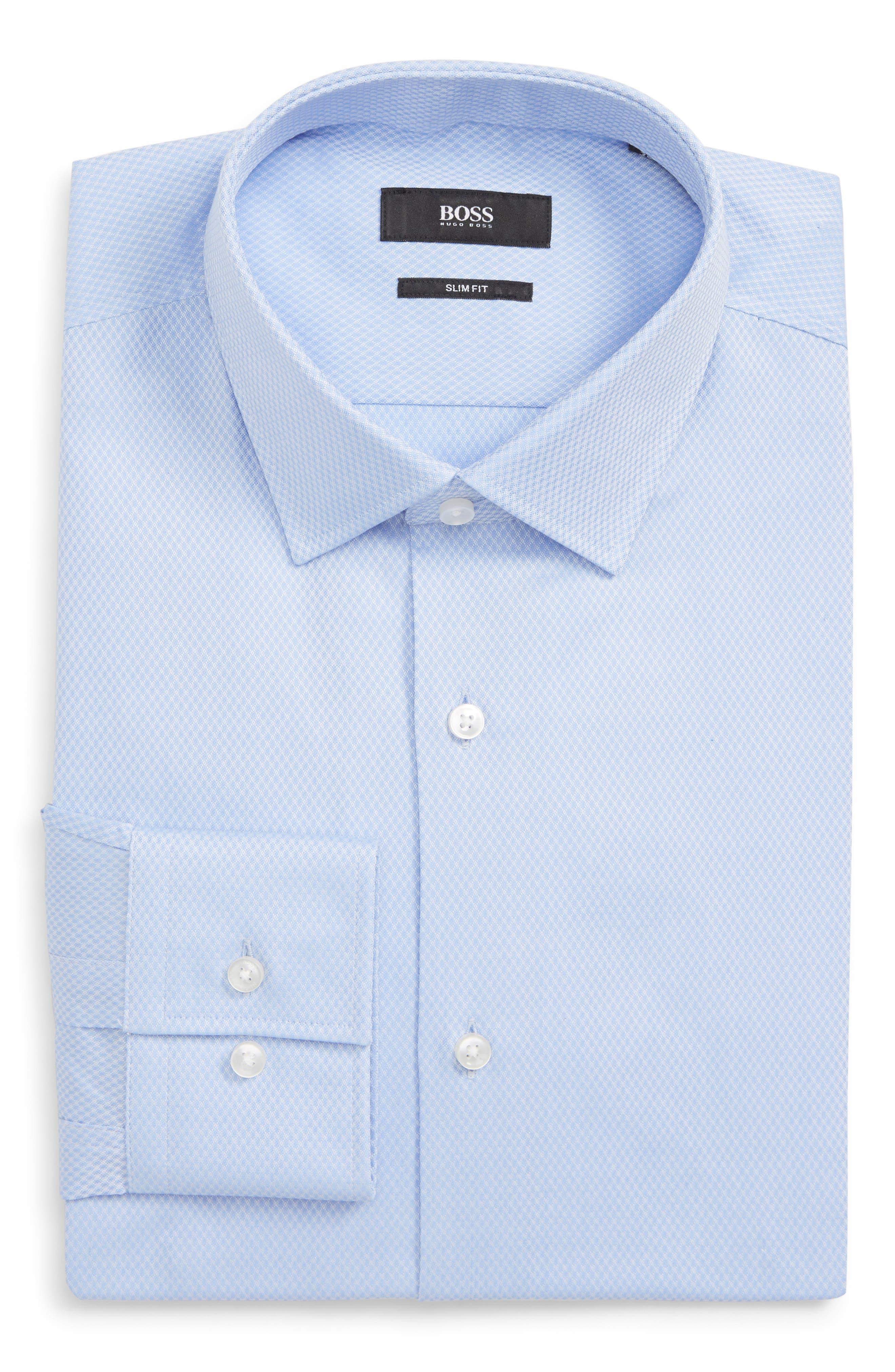 Jenno Slim Fit Solid Dress Shirt,                         Main,                         color, 450