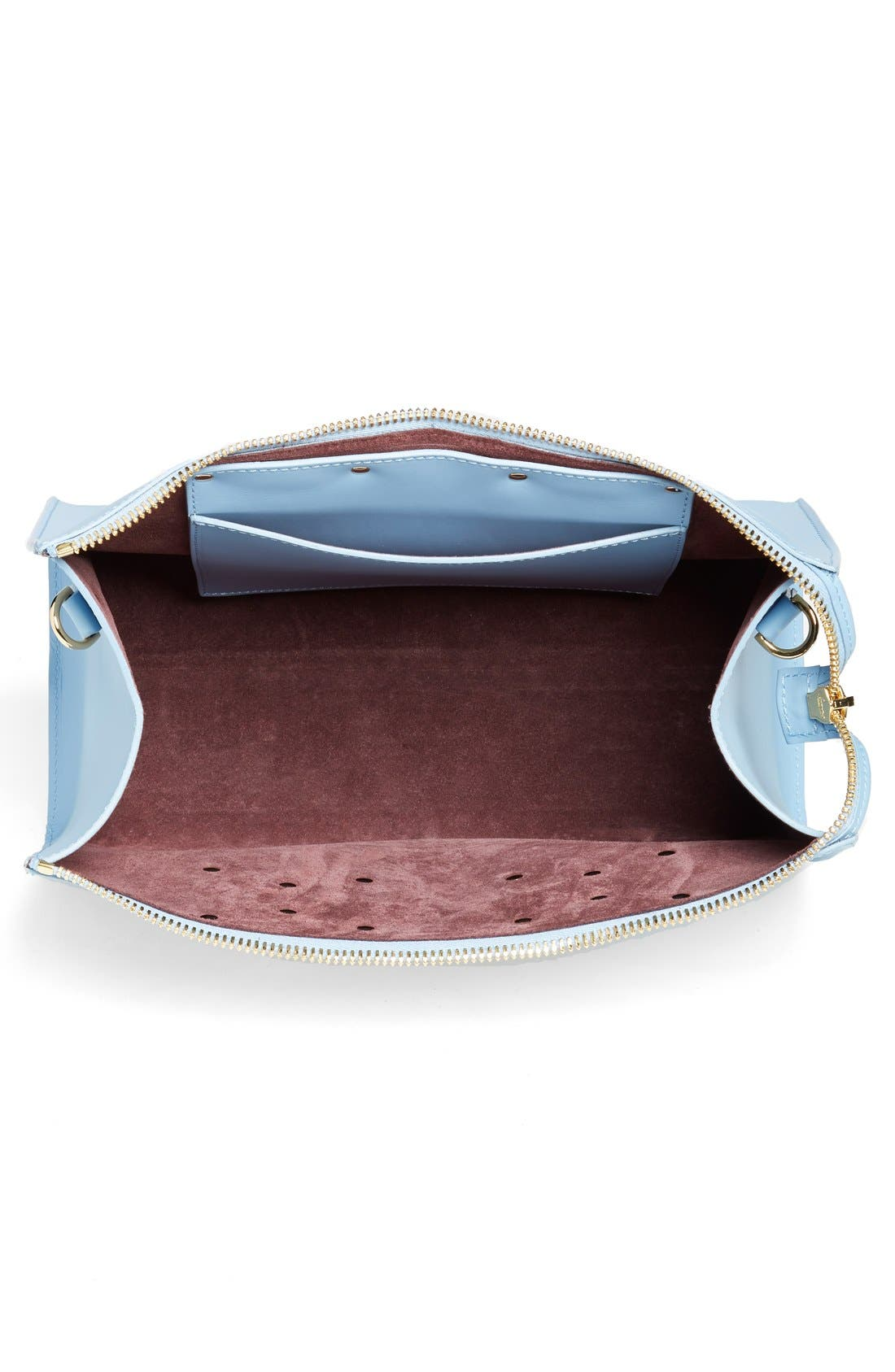 Leather Crossbody Bag,                             Alternate thumbnail 4, color,                             400
