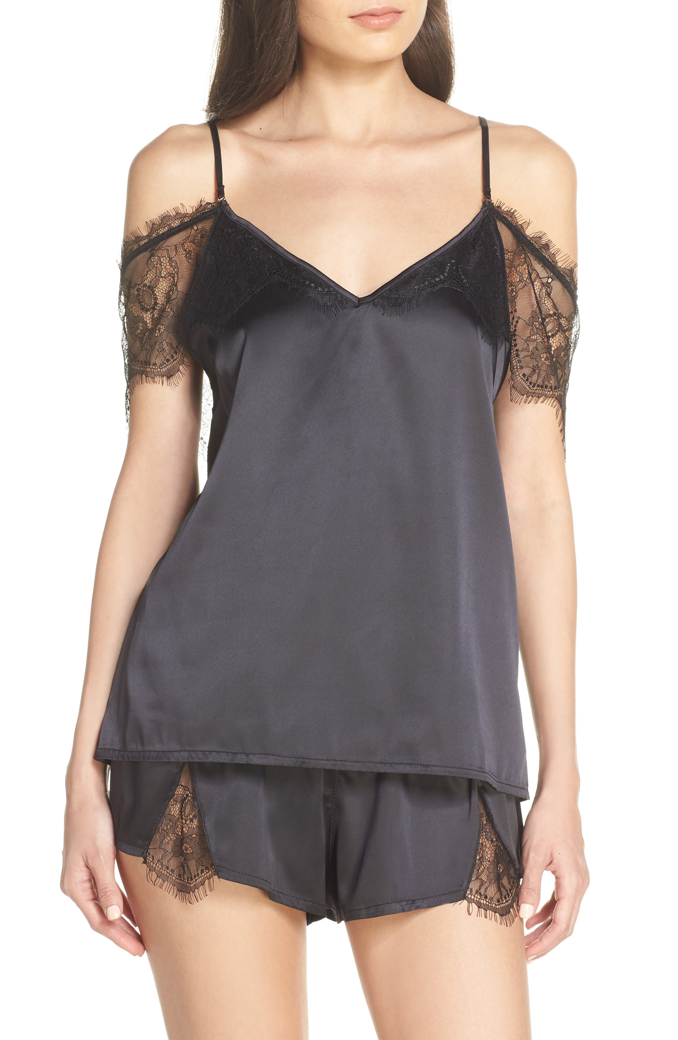 Bluebella Clemzette Short Pajamas, Black