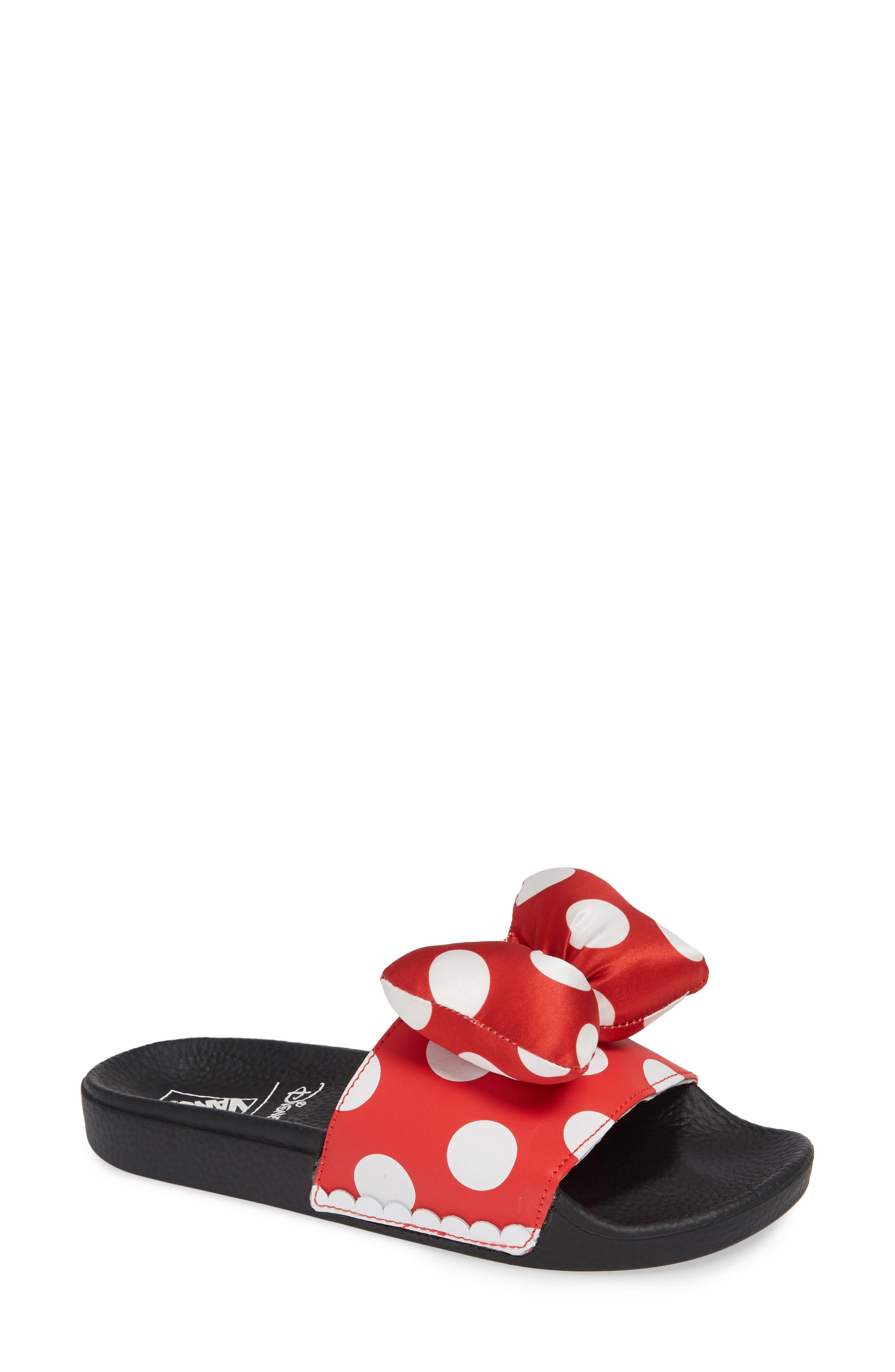 x Disney Minnie Mouse Slide Sandal,                             Main thumbnail 1, color,                             600