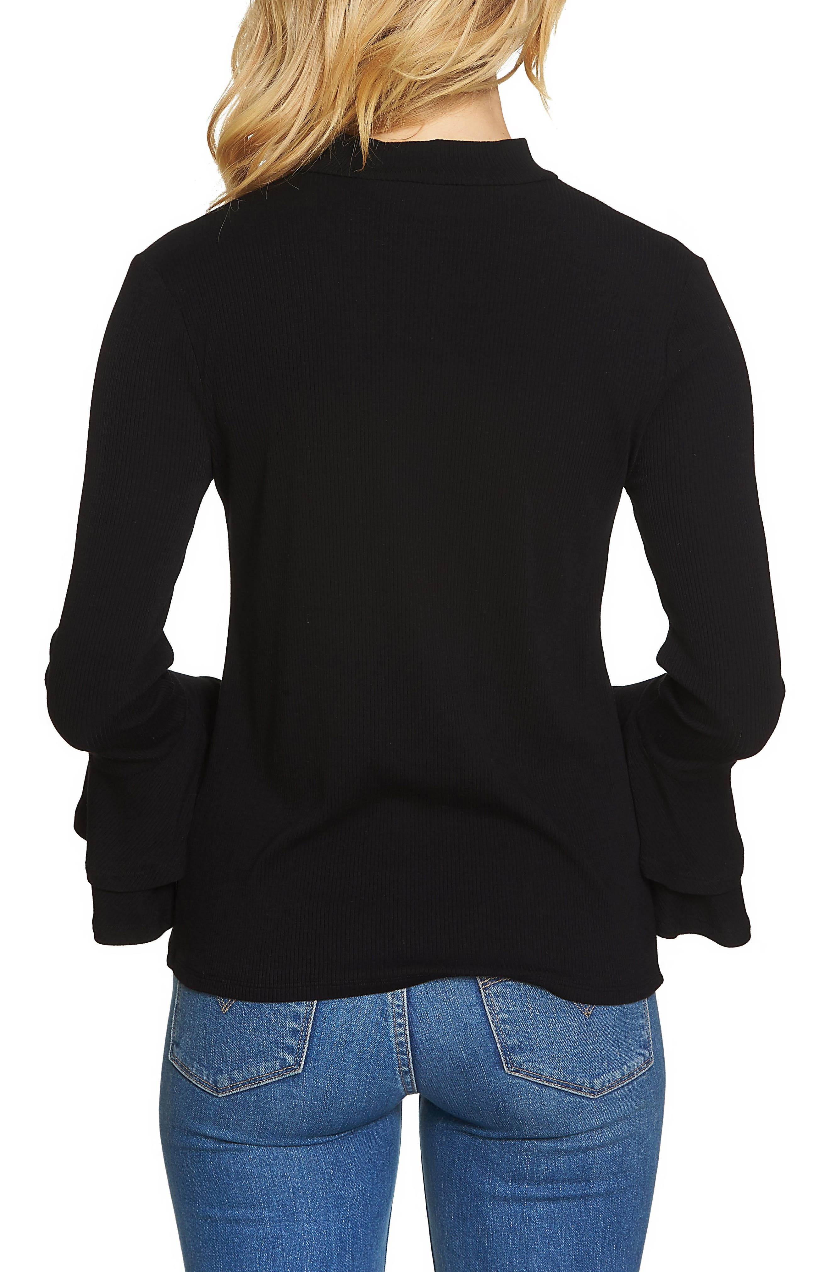 Bell Sleeve Top,                             Alternate thumbnail 2, color,                             010
