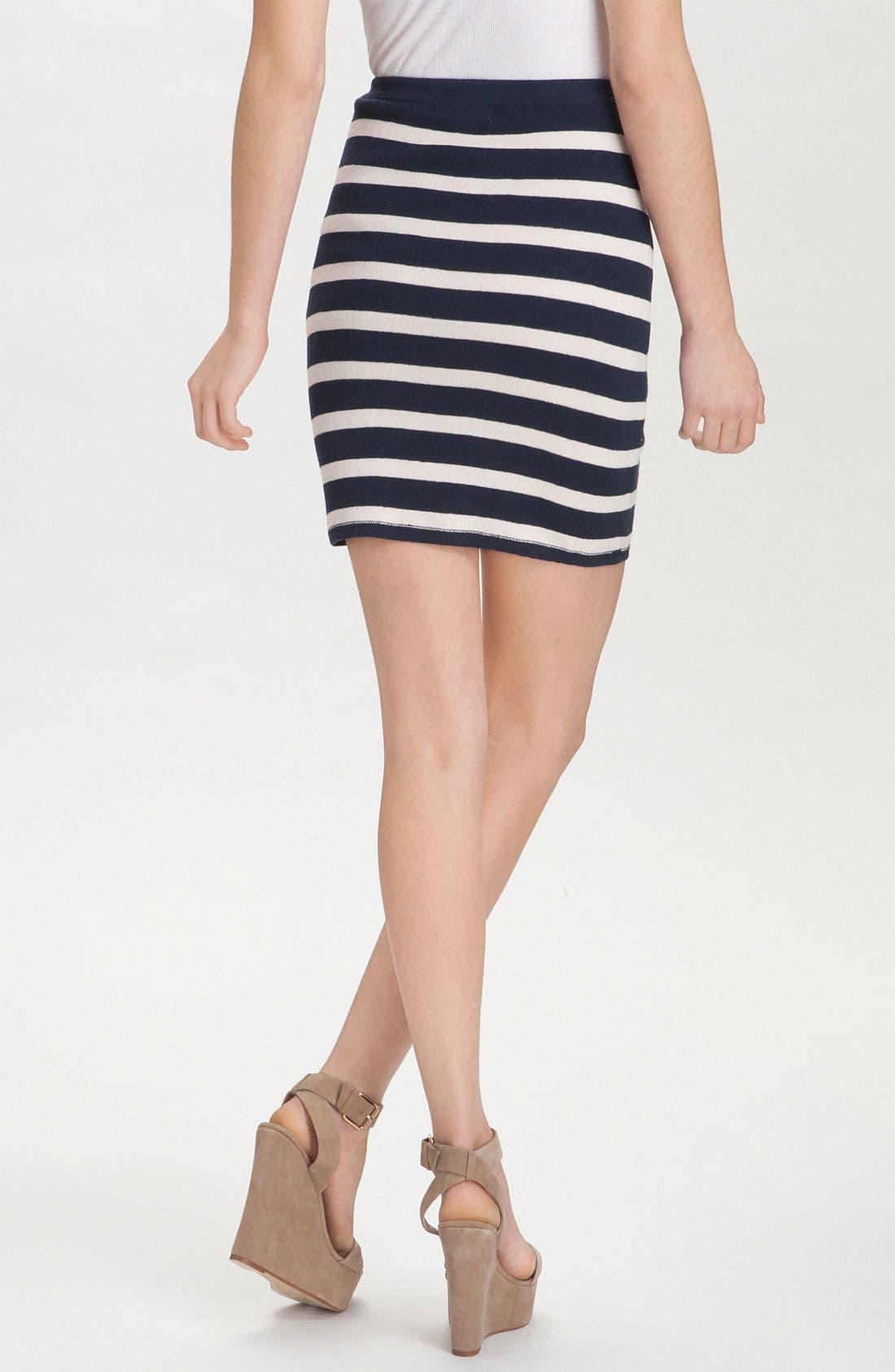 'Skipper' Stripe Pencil Skirt,                             Alternate thumbnail 3, color,                             400