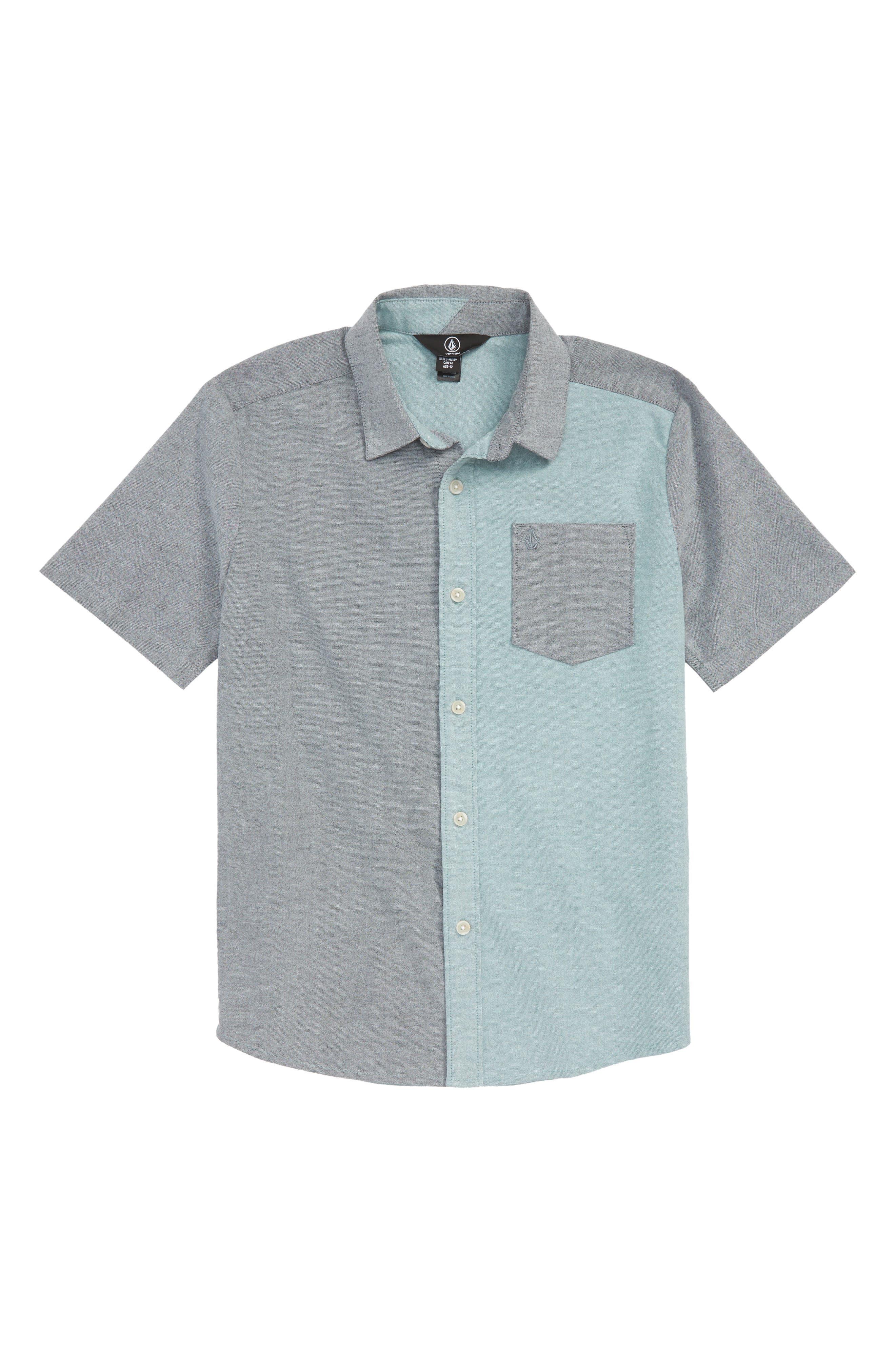 Everett Woven Shirt,                         Main,                         color, BLUE