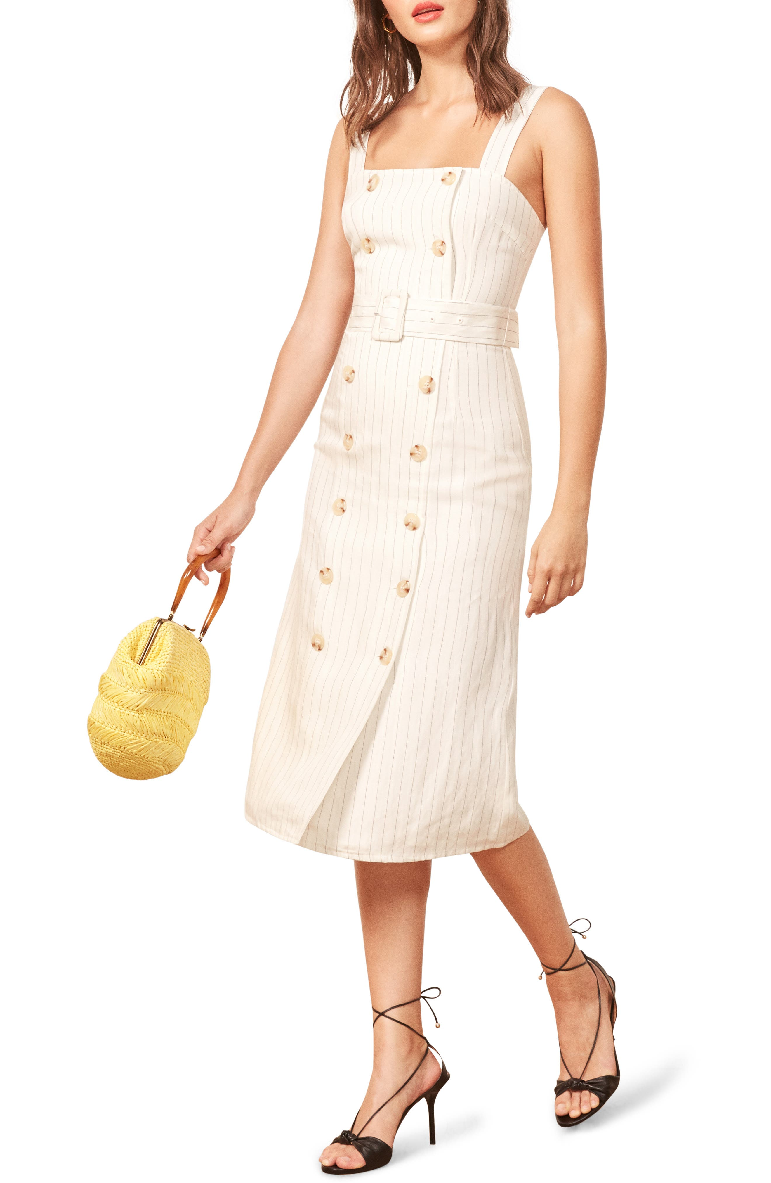 Palma Belted Dress,                             Main thumbnail 1, color,                             100