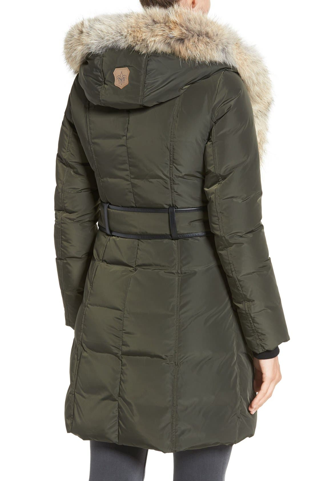 Down Puffer with Coyote Fur Trim,                             Alternate thumbnail 8, color,