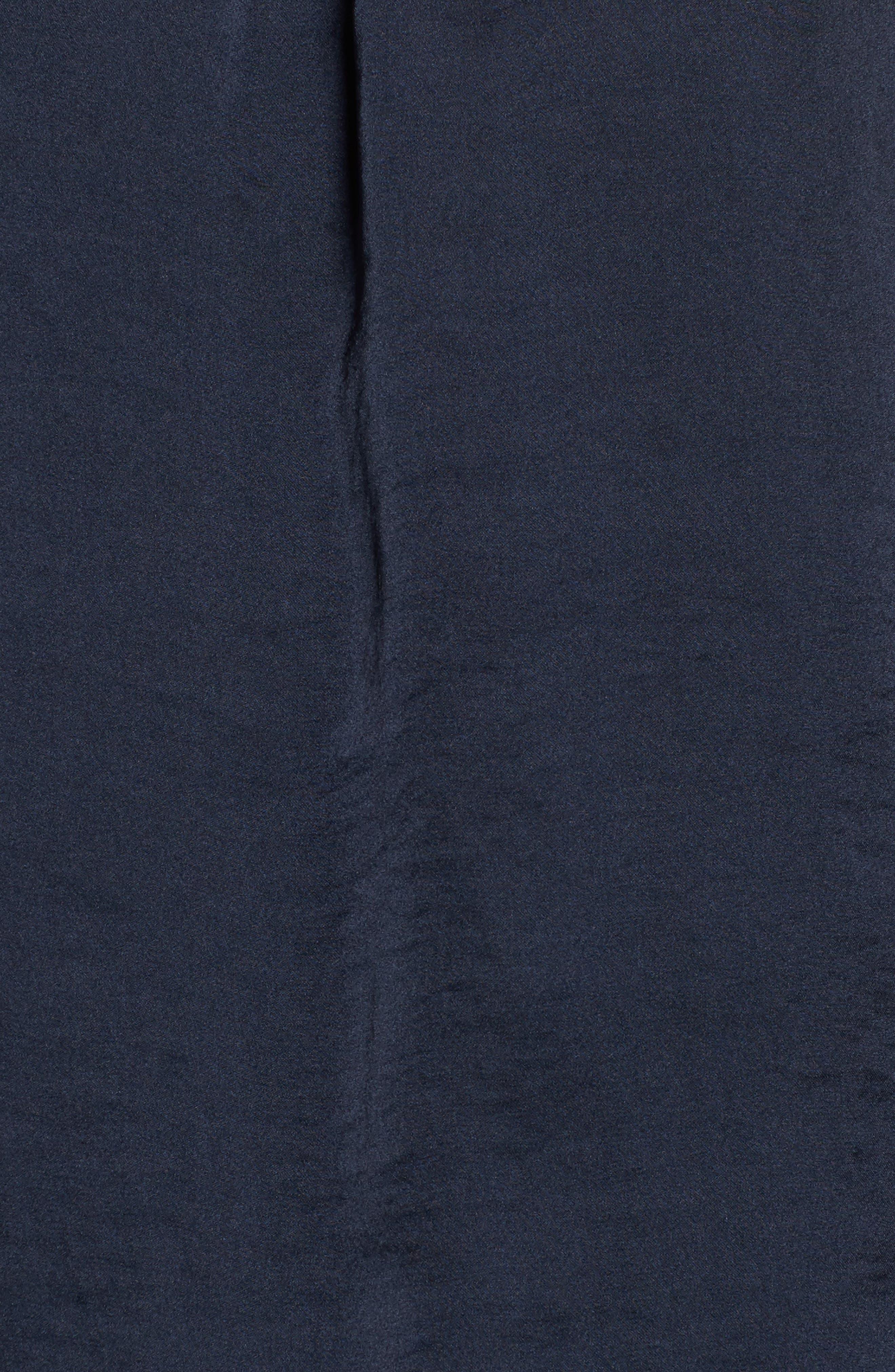 Bell Sleeve Hammered Satin Blouse,                             Alternate thumbnail 18, color,