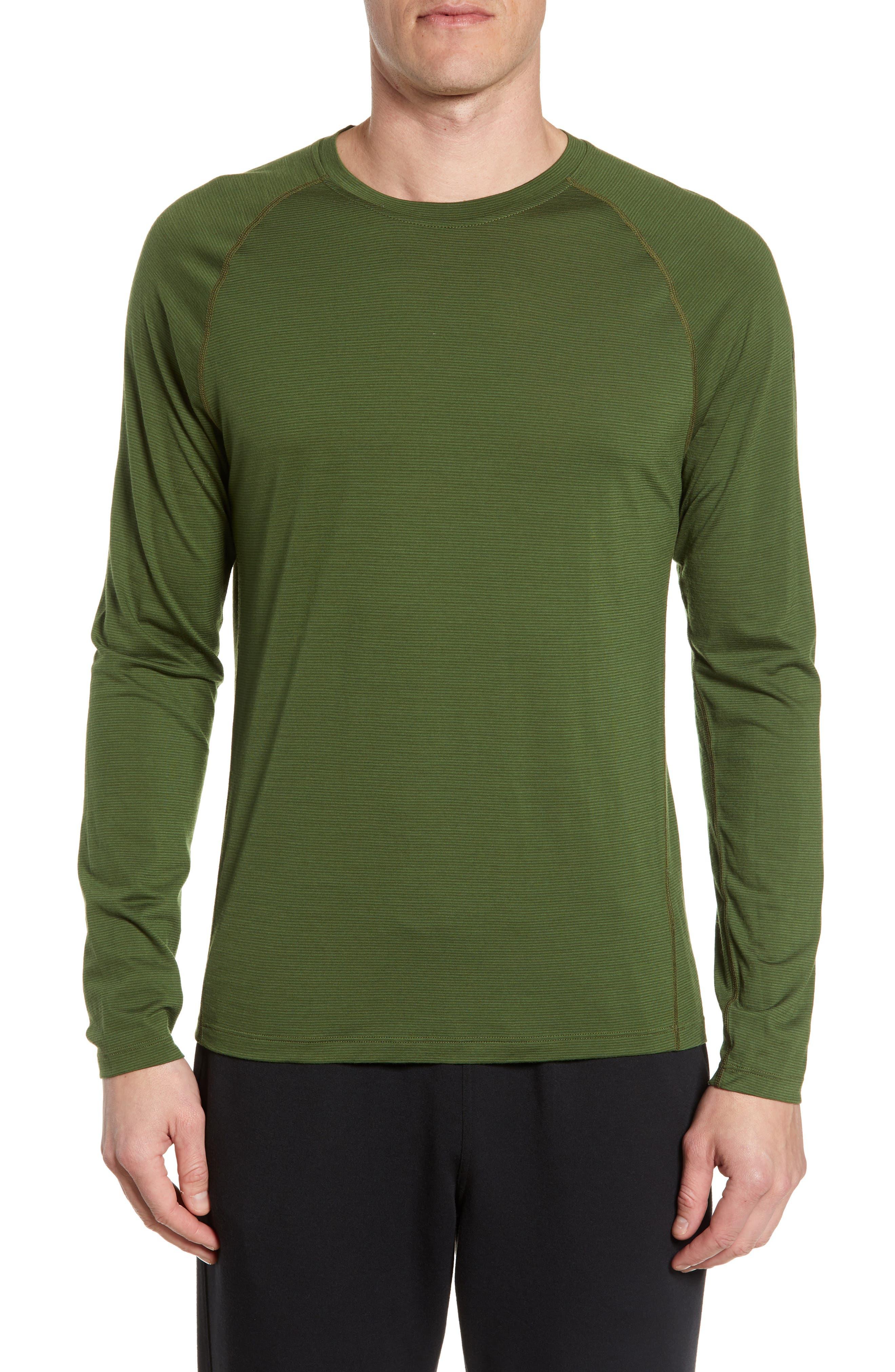 Smartwool Stripe Merino Blend T-Shirt, Green