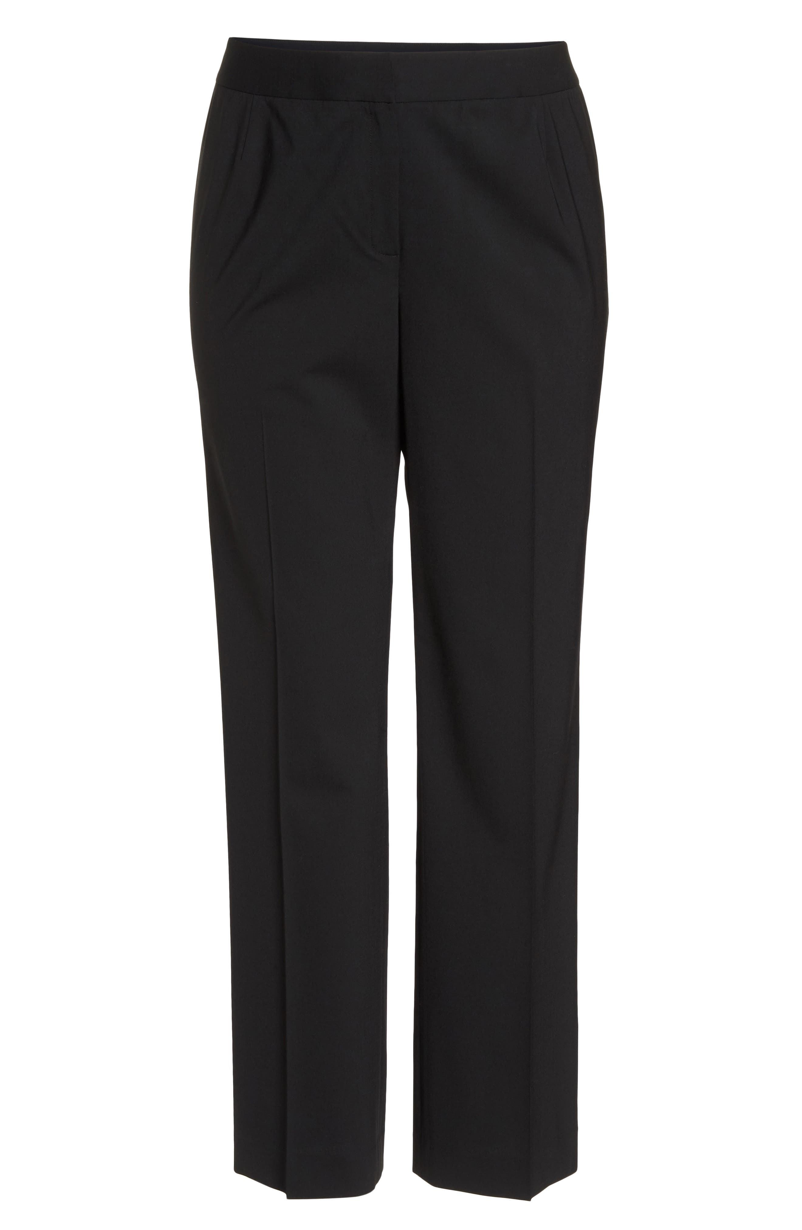 Menswear Trousers,                             Alternate thumbnail 8, color,                             BLACK