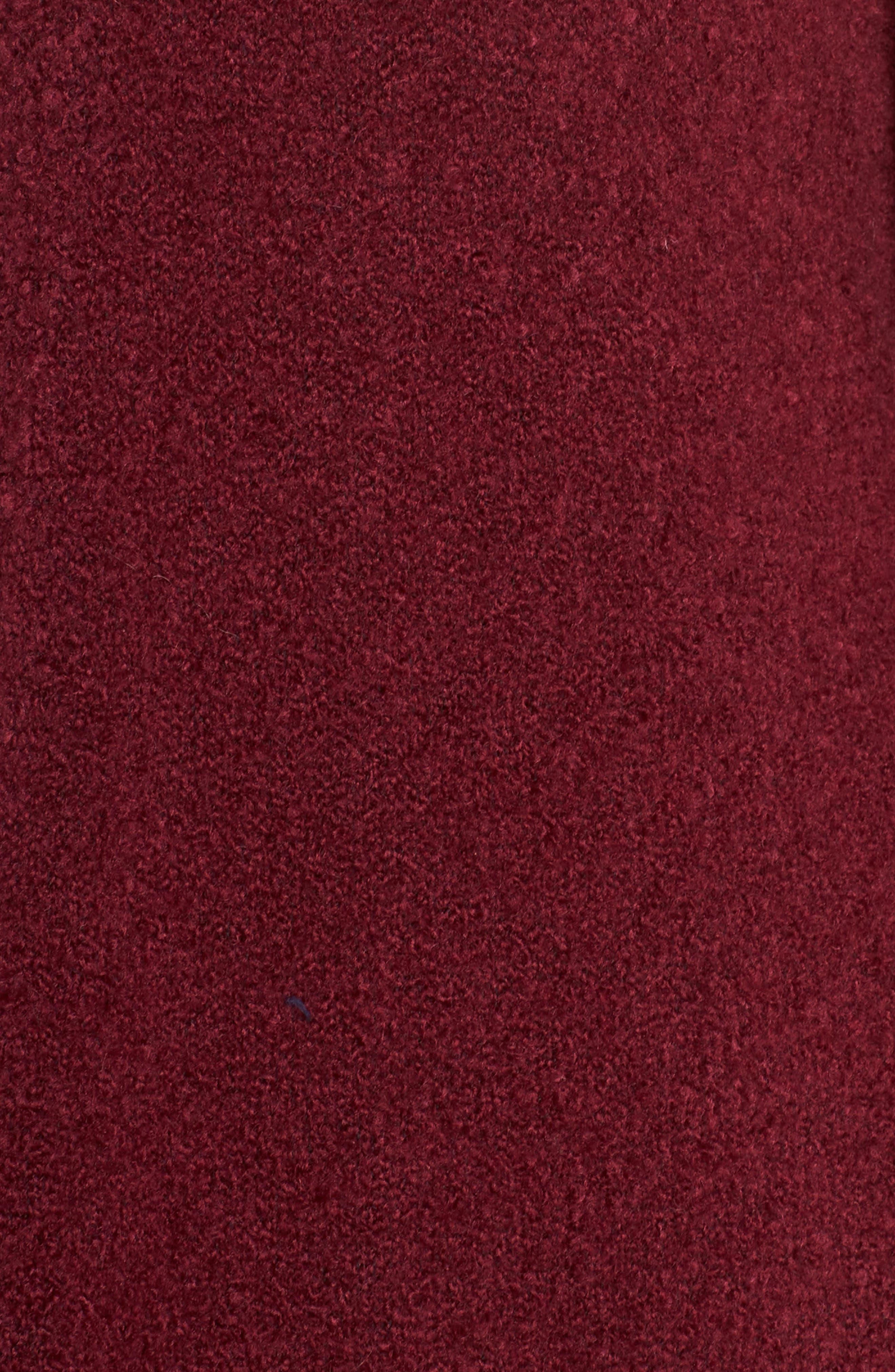 Bouclé Long Cardigan,                             Alternate thumbnail 5, color,                             RED GRAPE
