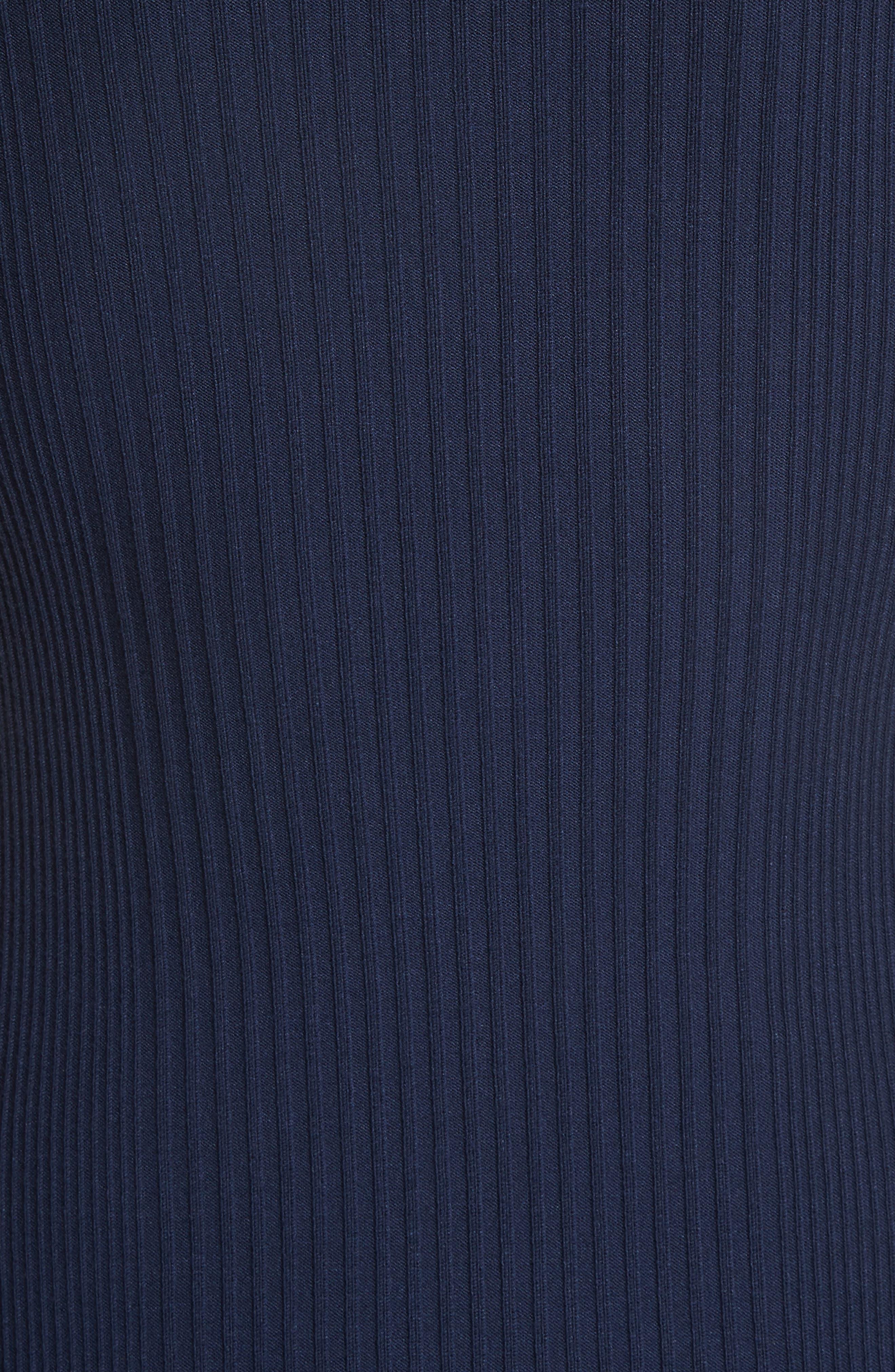 Delta Rib Knit Dress,                             Alternate thumbnail 5, color,                             401