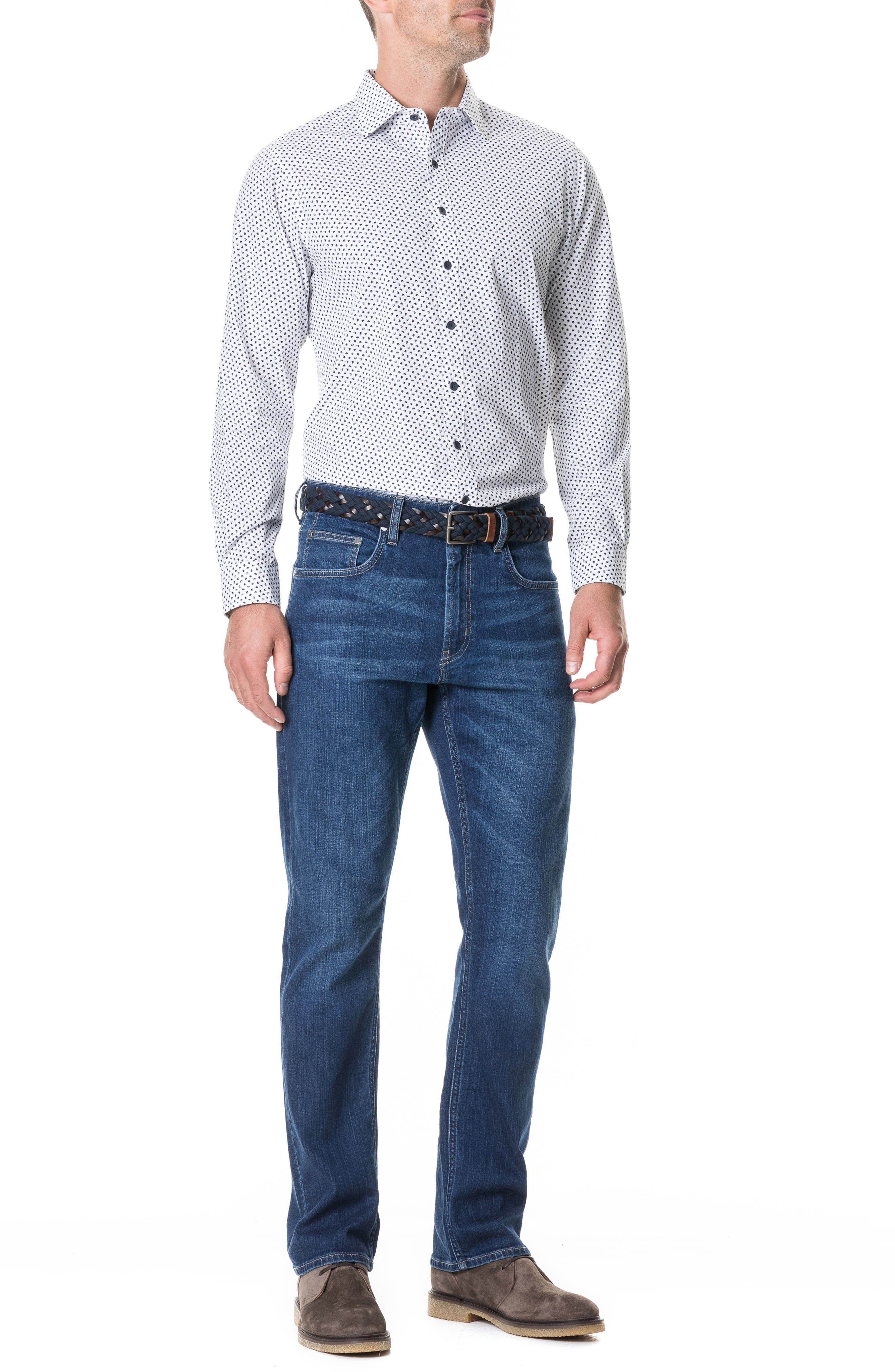 Byron Relaxed Fit Jeans,                             Alternate thumbnail 3, color,                             DENIM