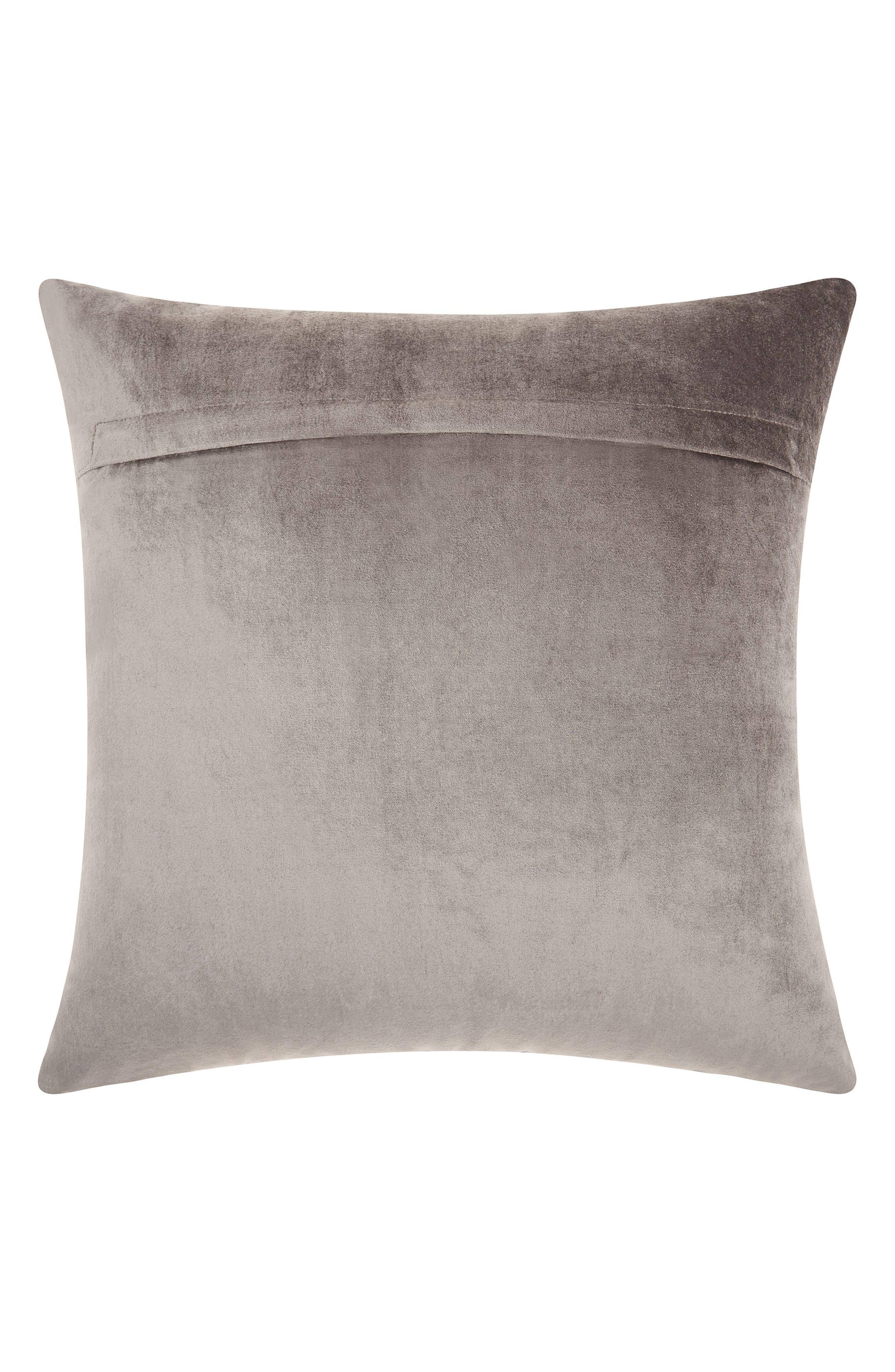 Distressed Velvet Accent Pillow,                             Alternate thumbnail 2, color,                             030