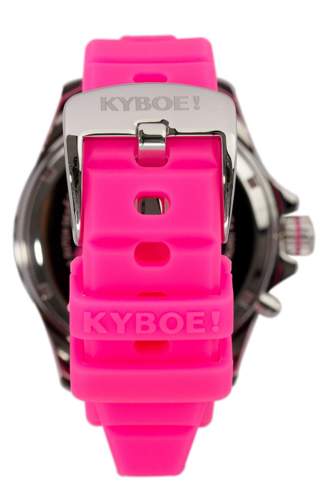 'Power' Silicone Strap Watch, 48mm,                             Alternate thumbnail 2, color,                             655