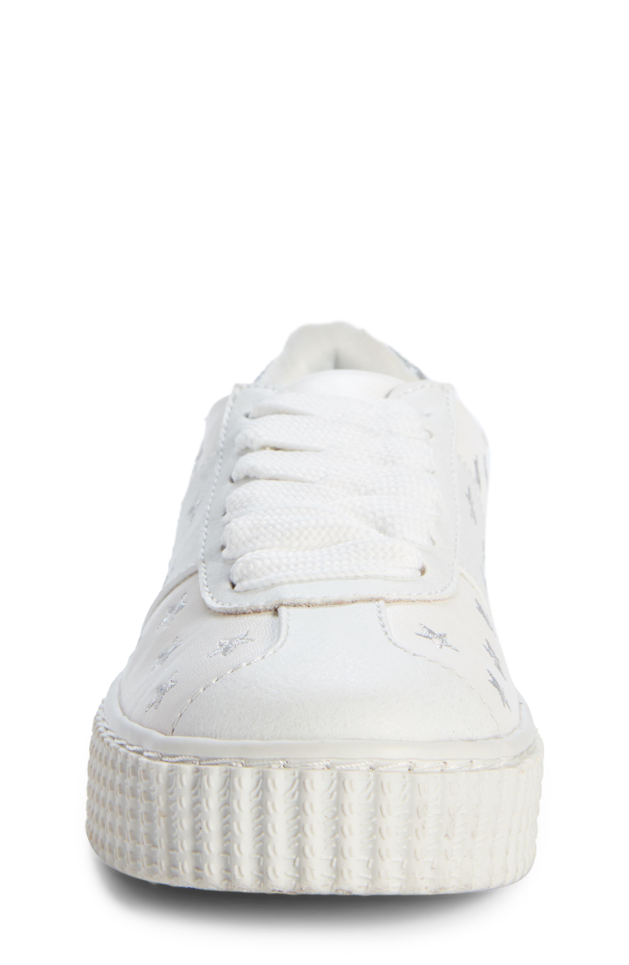 Cadin Star Creeper Sneaker,                             Alternate thumbnail 4, color,                             100