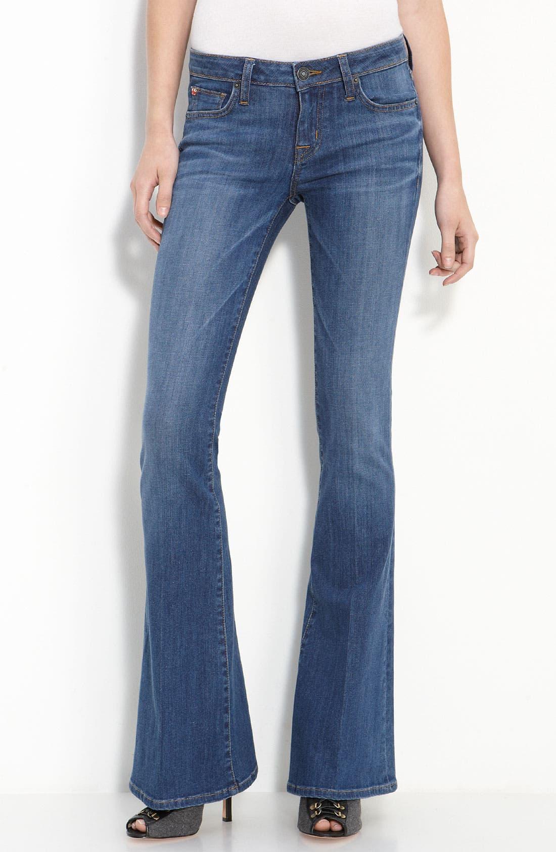 HUDSON JEANS,                             'Ferris' Flare Leg Stretch Denim Jeans,                             Main thumbnail 1, color,                             401