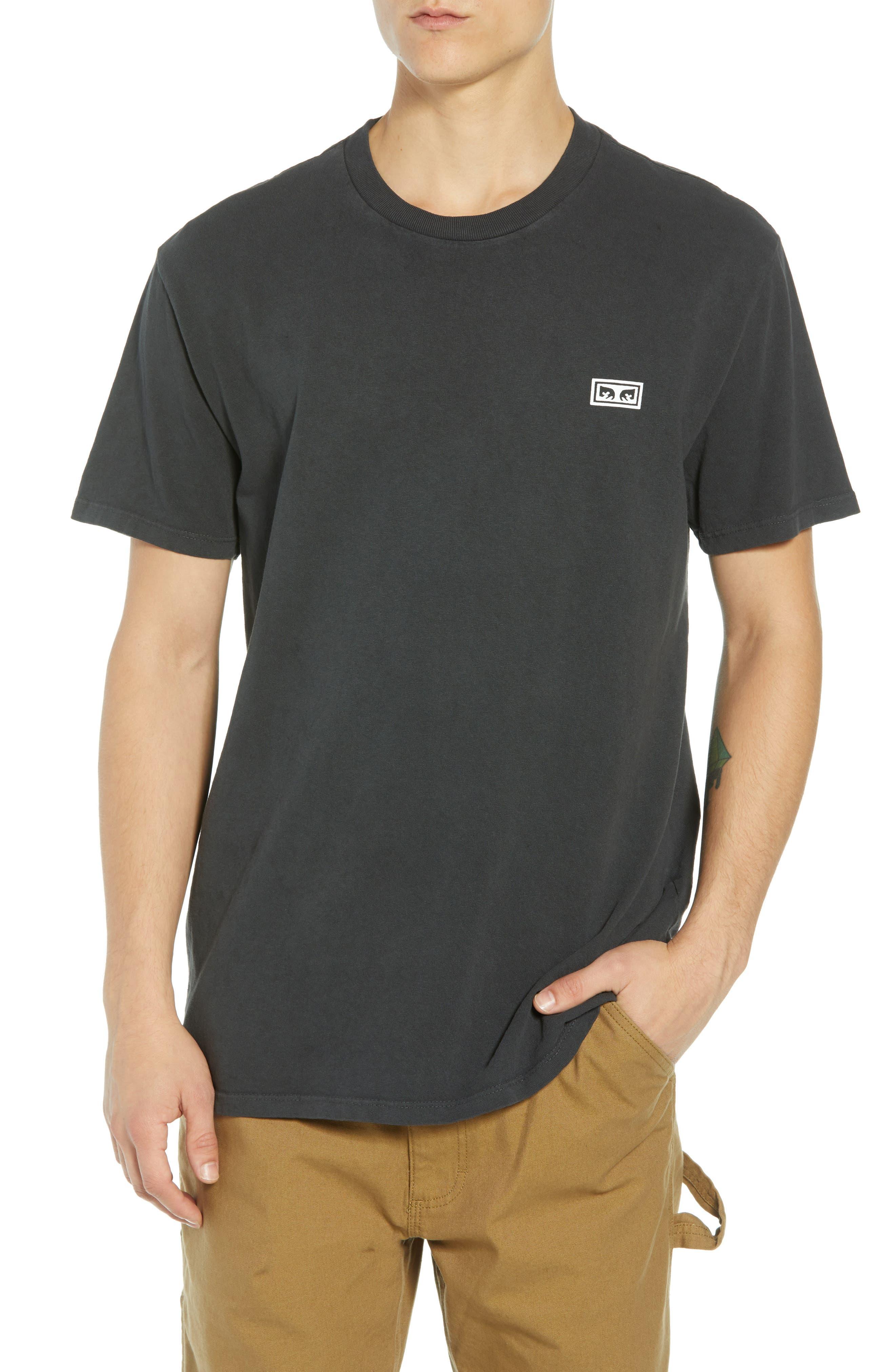 Jumble Lo-Fi Pigment T-Shirt,                             Main thumbnail 1, color,                             DUSTY BLACK