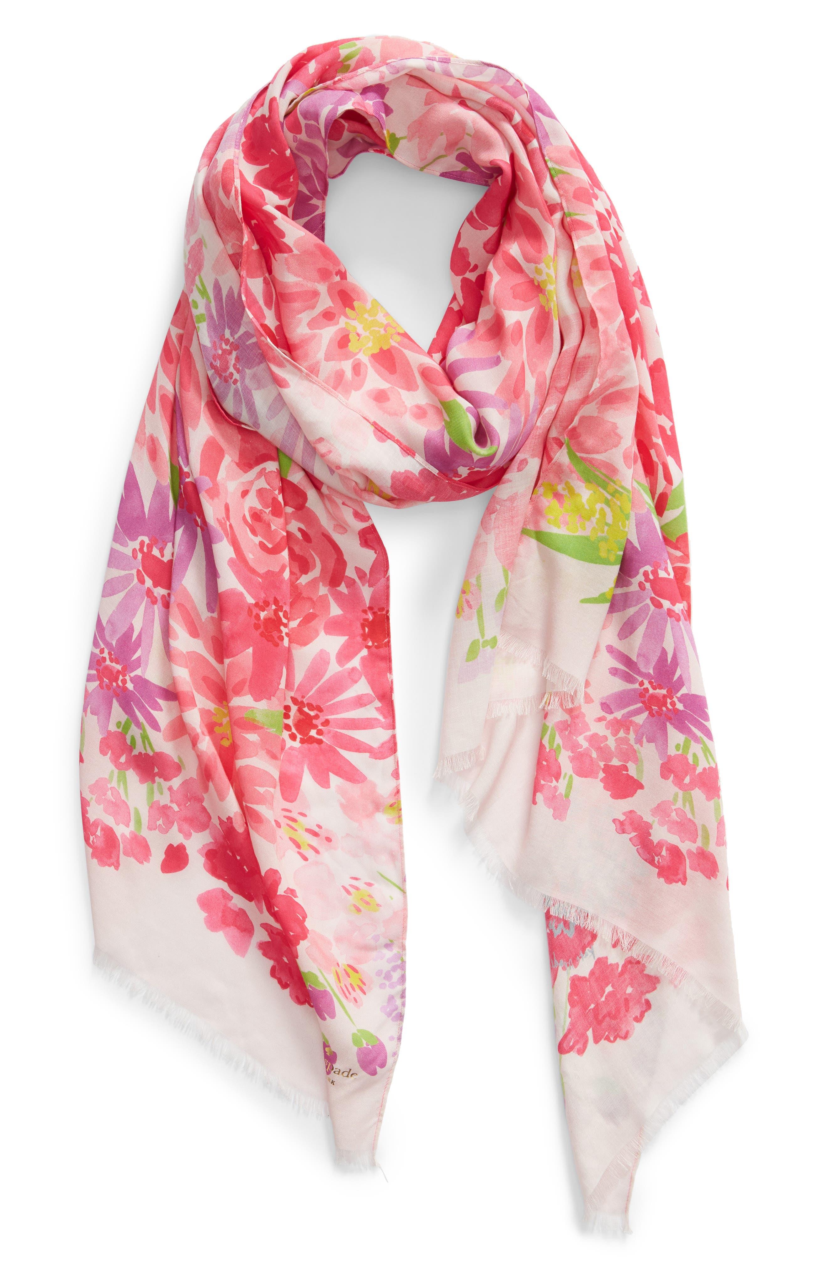 deli flowers scarf,                             Alternate thumbnail 2, color,                             CREAM