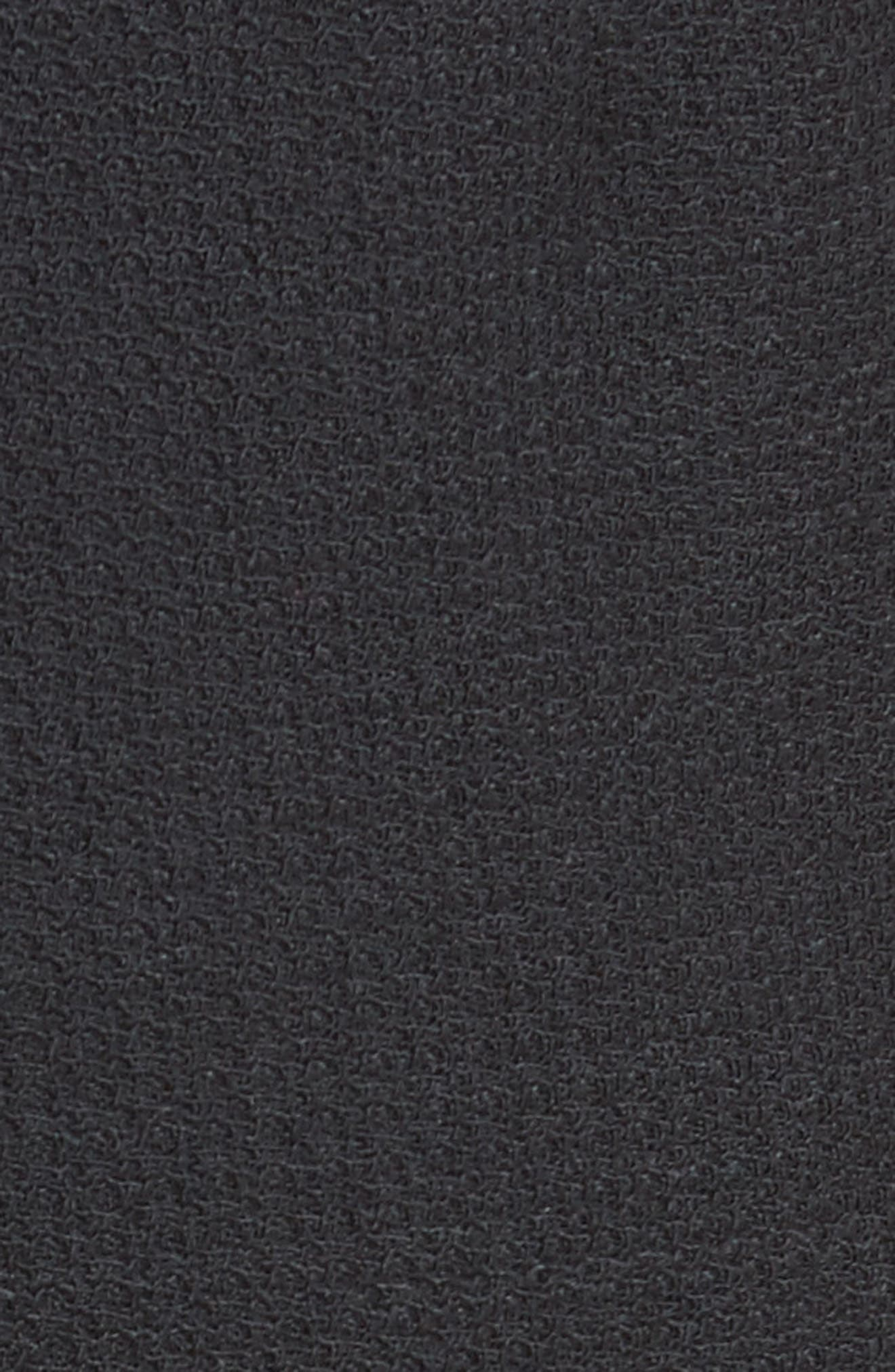 Stretch Wool Wide Leg Pants,                             Alternate thumbnail 5, color,                             001