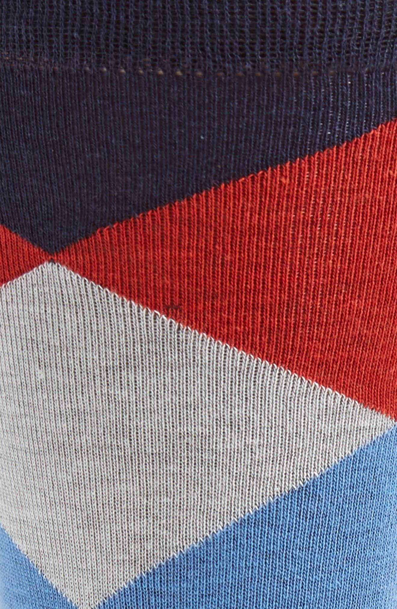 Large Diamond Crew Socks,                             Alternate thumbnail 2, color,                             BLUE