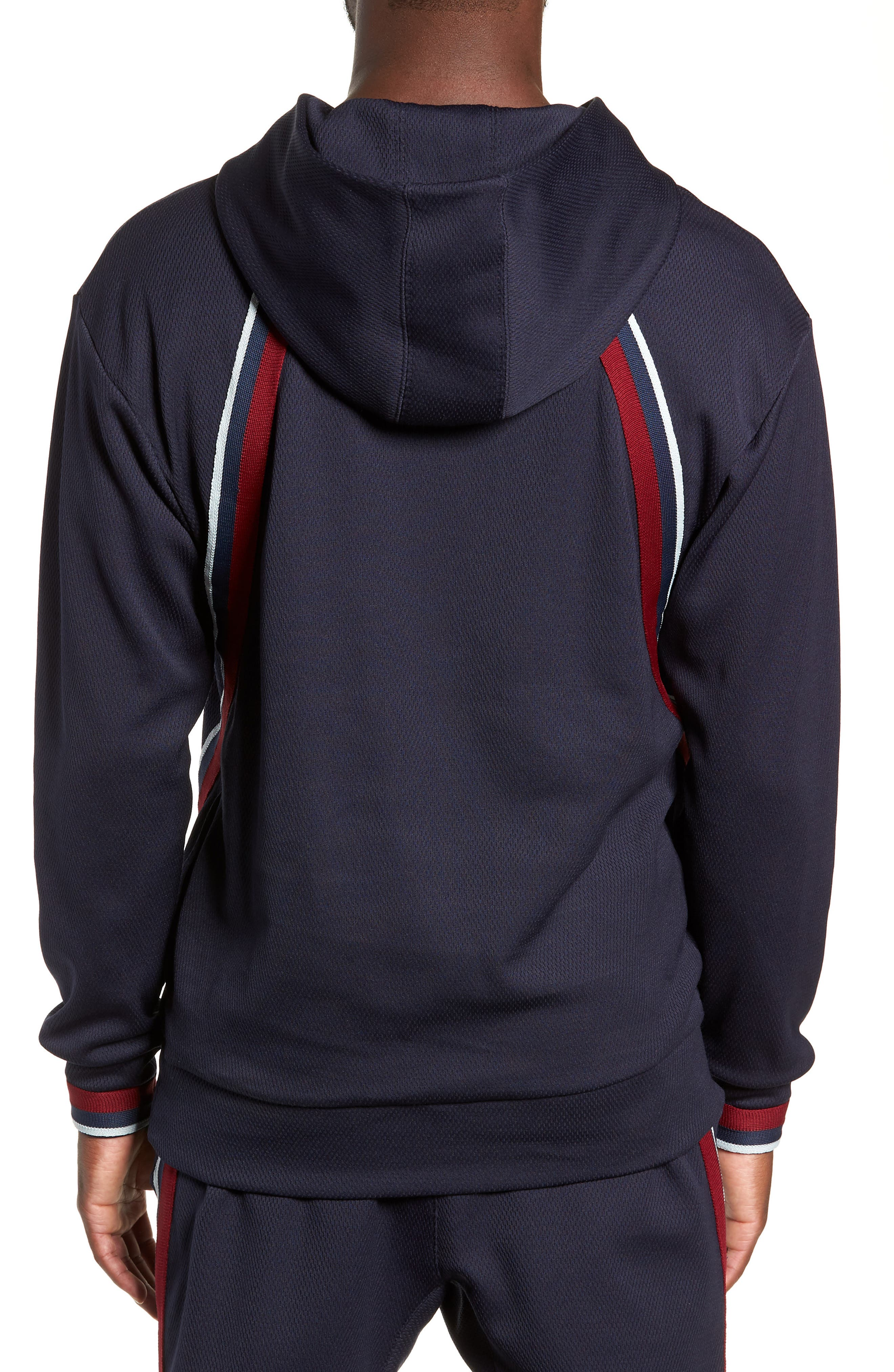 Oversize Track Hoodie,                             Alternate thumbnail 2, color,                             ADMIRAL