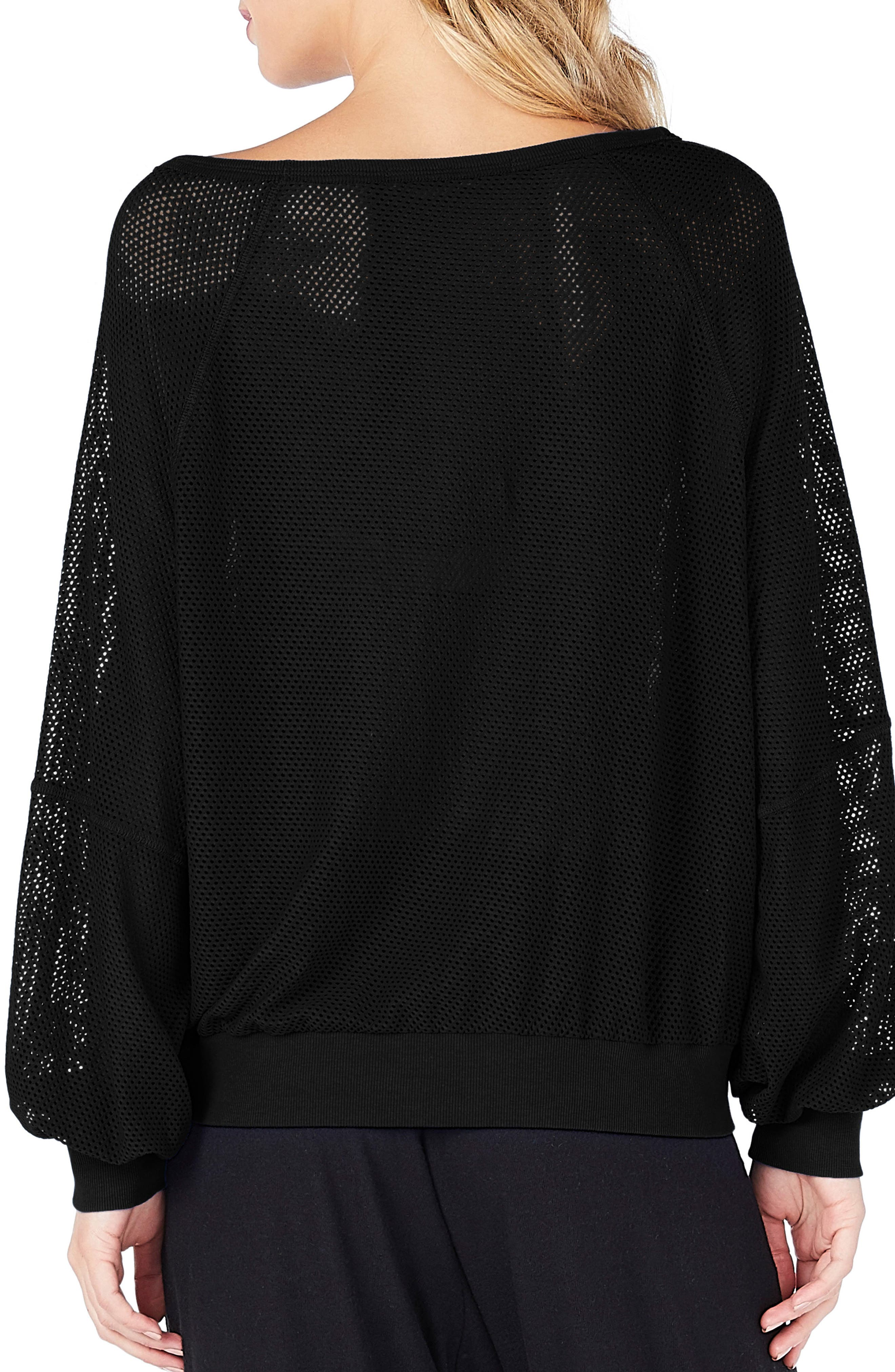 Open Stitch Sweatshirt,                             Alternate thumbnail 2, color,                             001