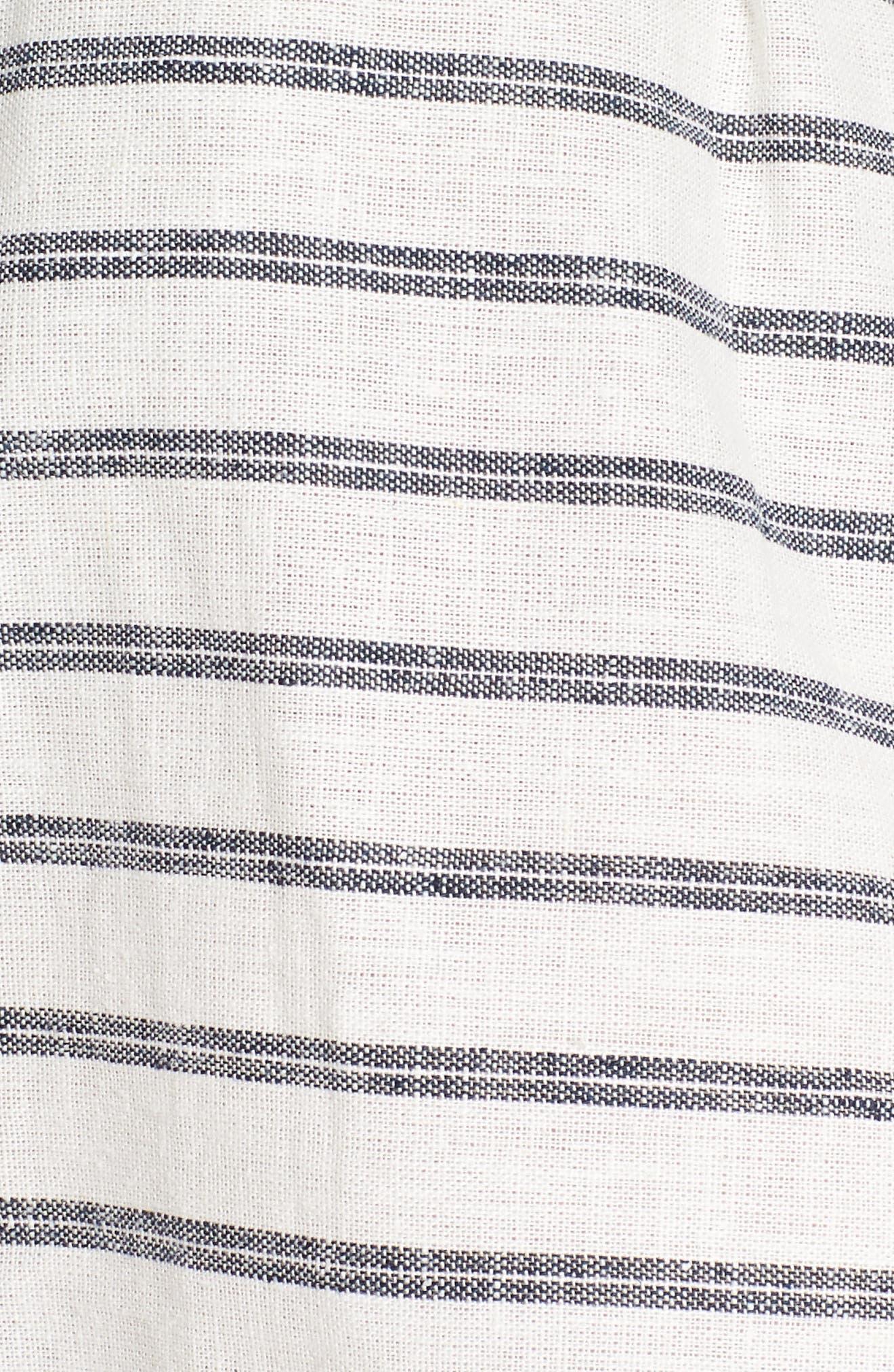 Stripe Linen & Cotton Crop Tank,                             Alternate thumbnail 5, color,                             904