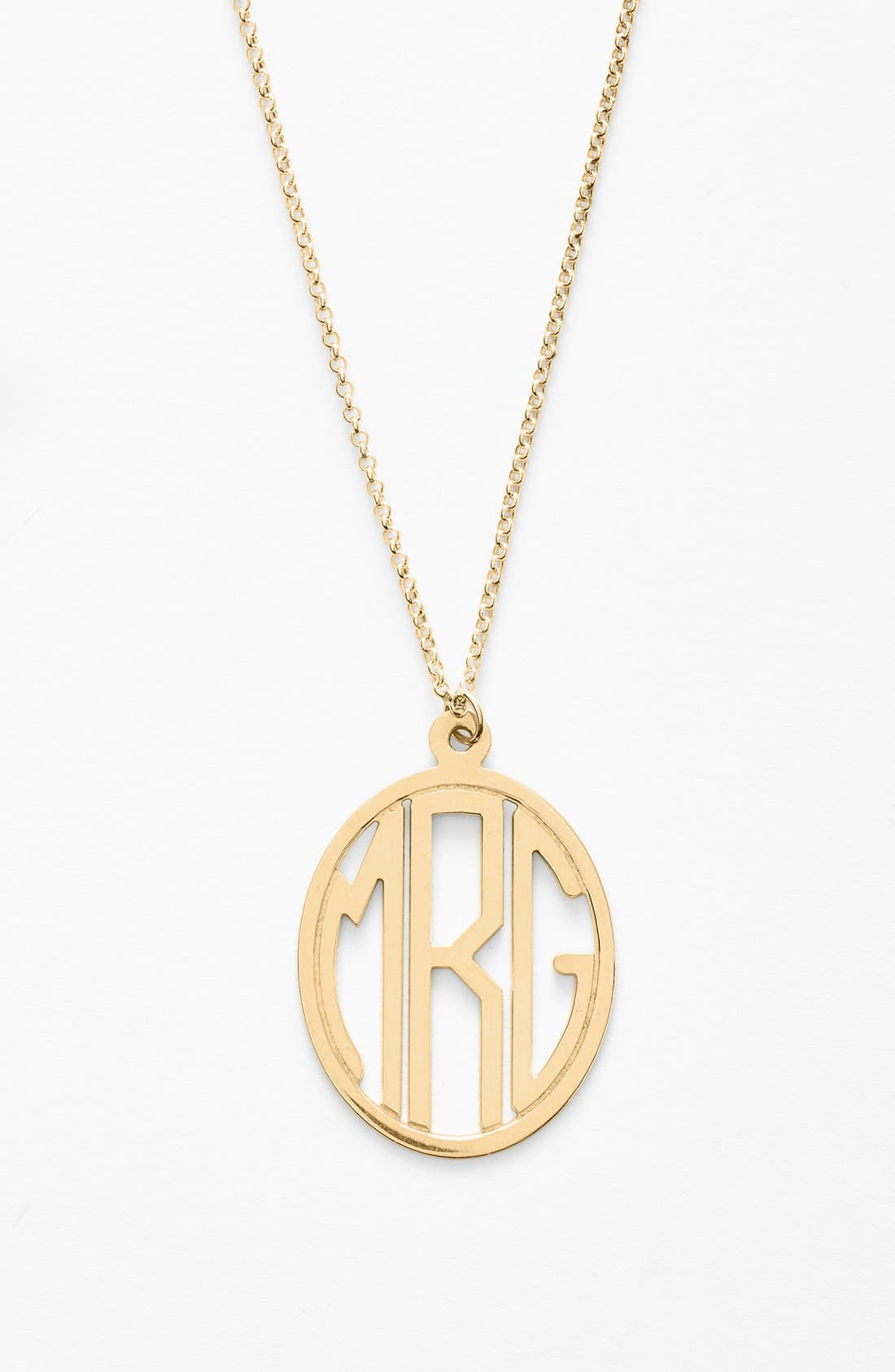 Personalized Monogram Pendant Necklace,                             Alternate thumbnail 2, color,                             GOLD