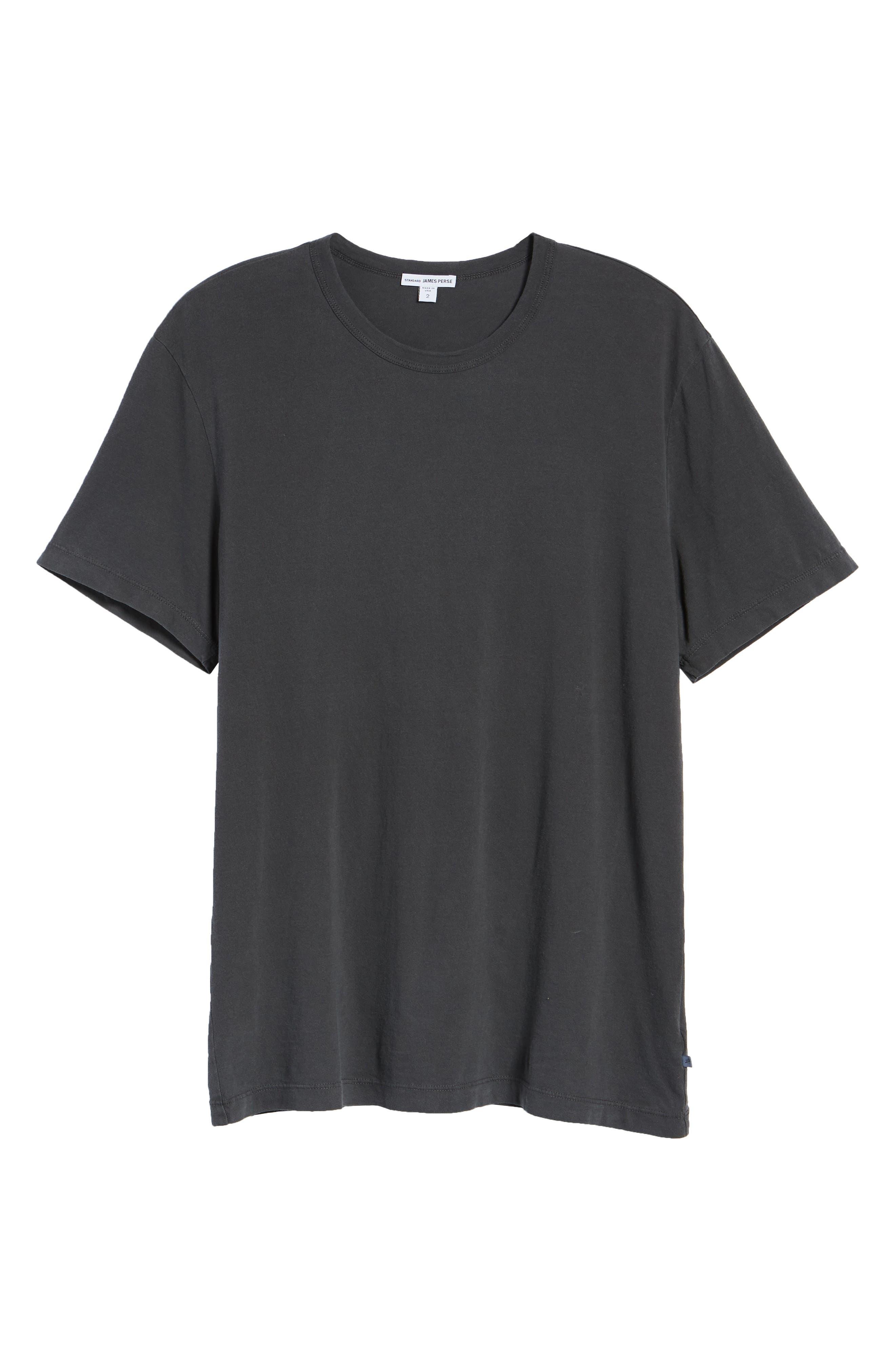 Regular Fit Tonal Palms Crewneck Shirt,                             Alternate thumbnail 6, color,                             CARBON PIGMENT