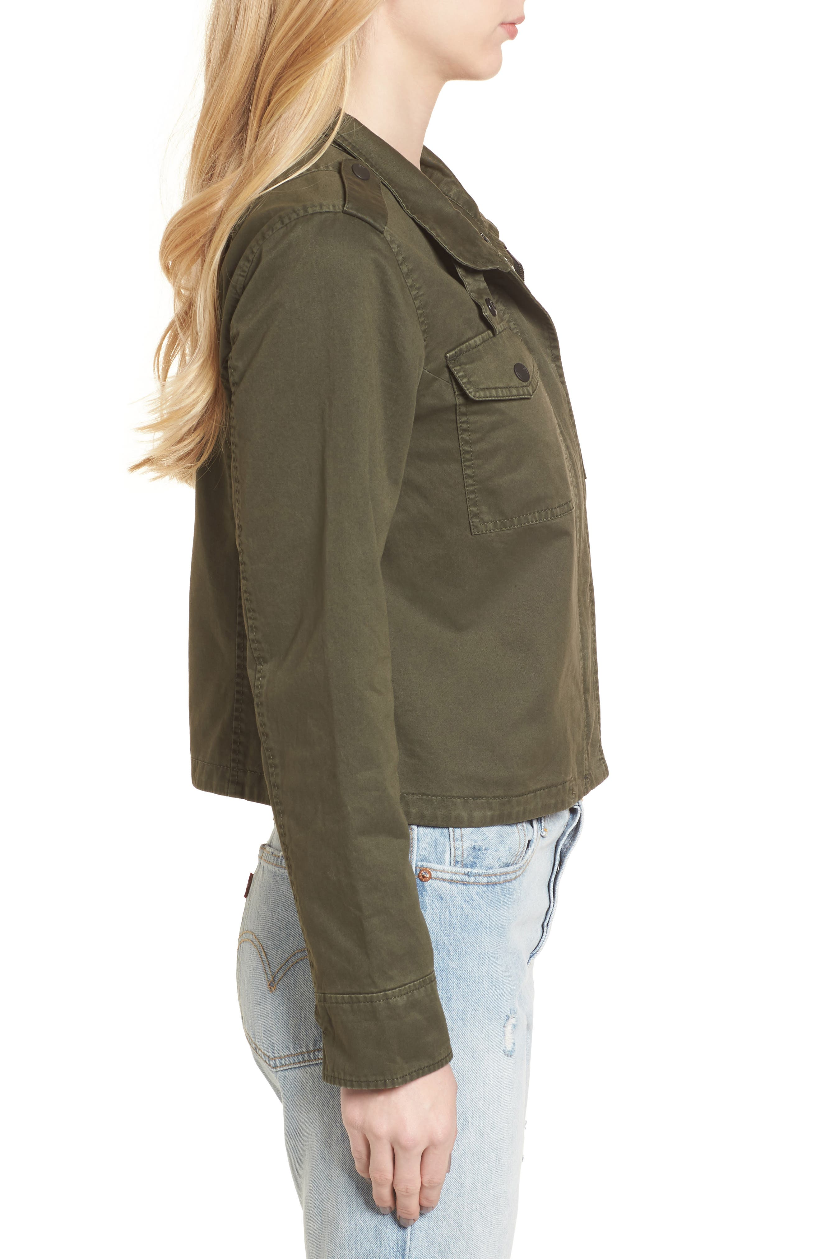 Crop Military Jacket,                             Alternate thumbnail 14, color,