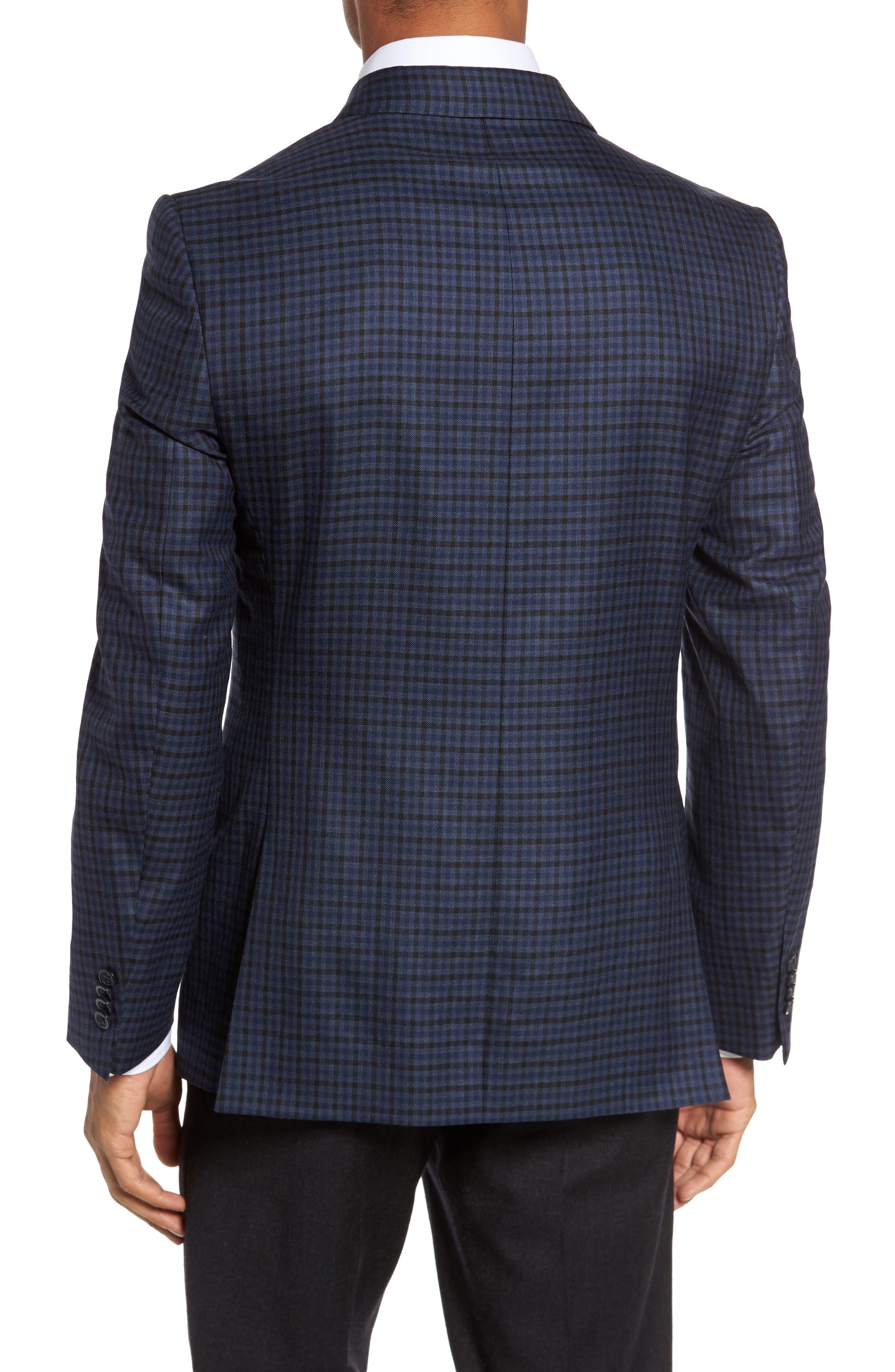 Classic Fit Plaid Wool Sport Coat,                             Alternate thumbnail 2, color,                             410