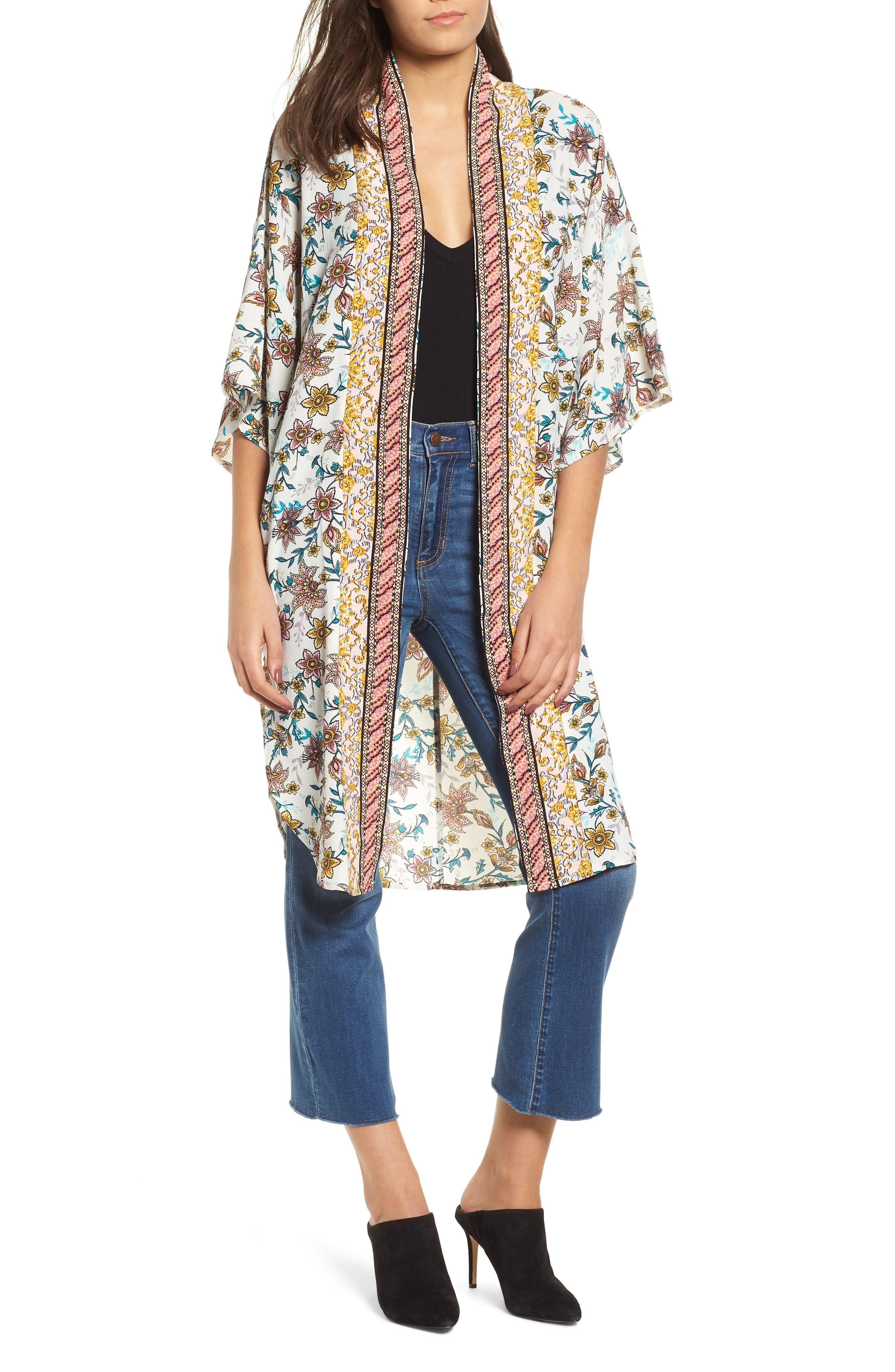 Print Kimono,                             Main thumbnail 1, color,                             100