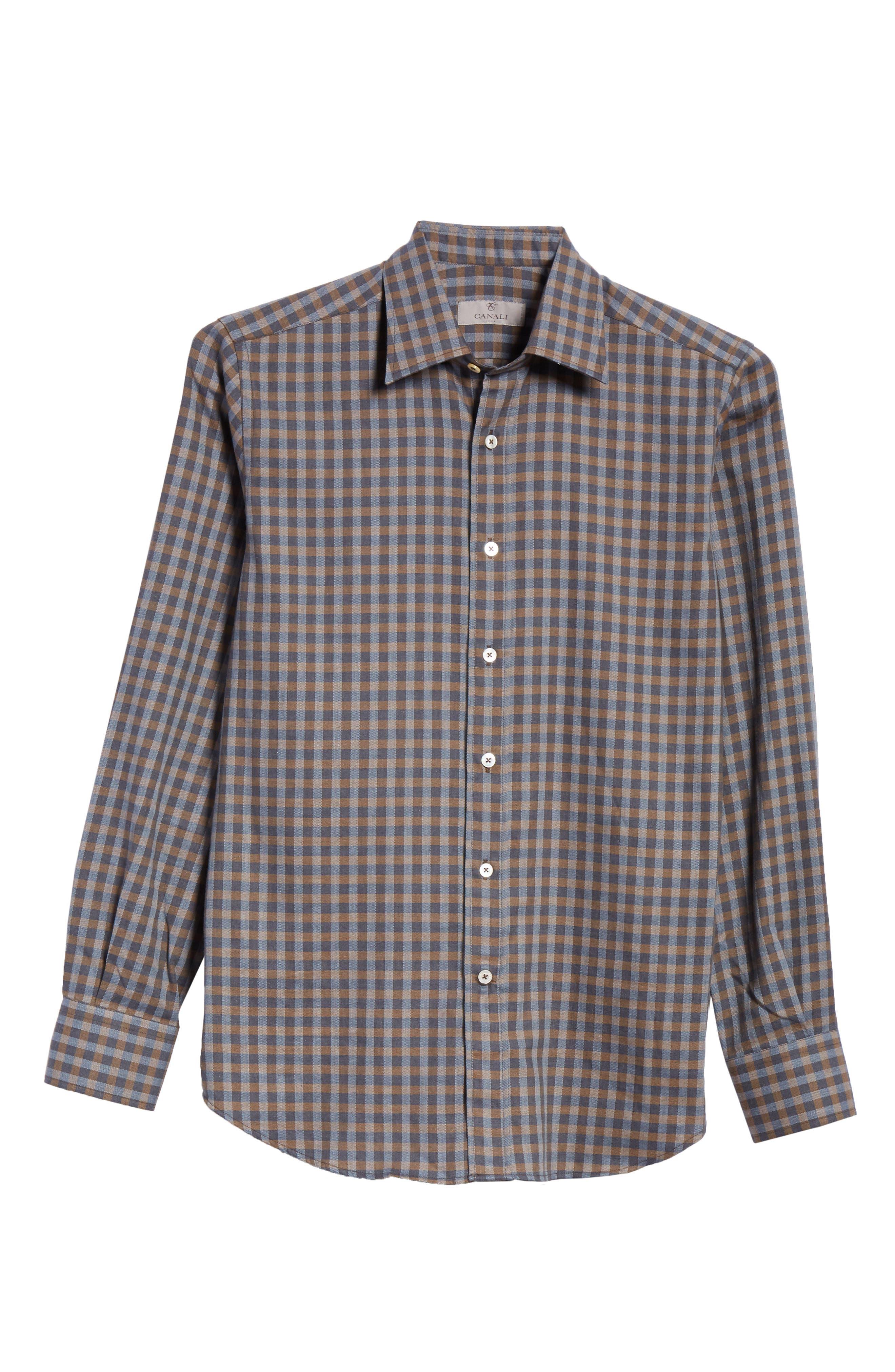 Regular Fit Check Sport Shirt,                             Alternate thumbnail 6, color,                             200