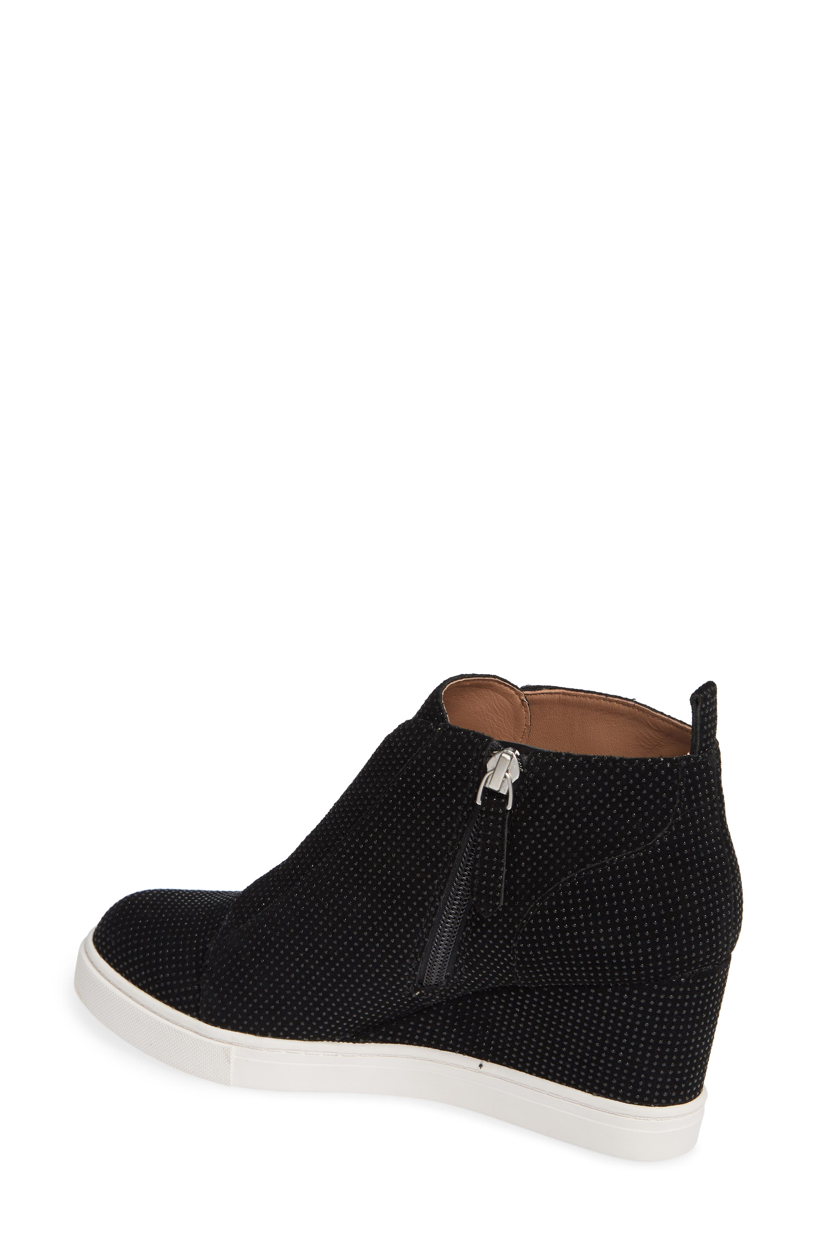 'Felicia' Wedge Bootie,                             Alternate thumbnail 2, color,                             BLACK TEXTURED SUEDE