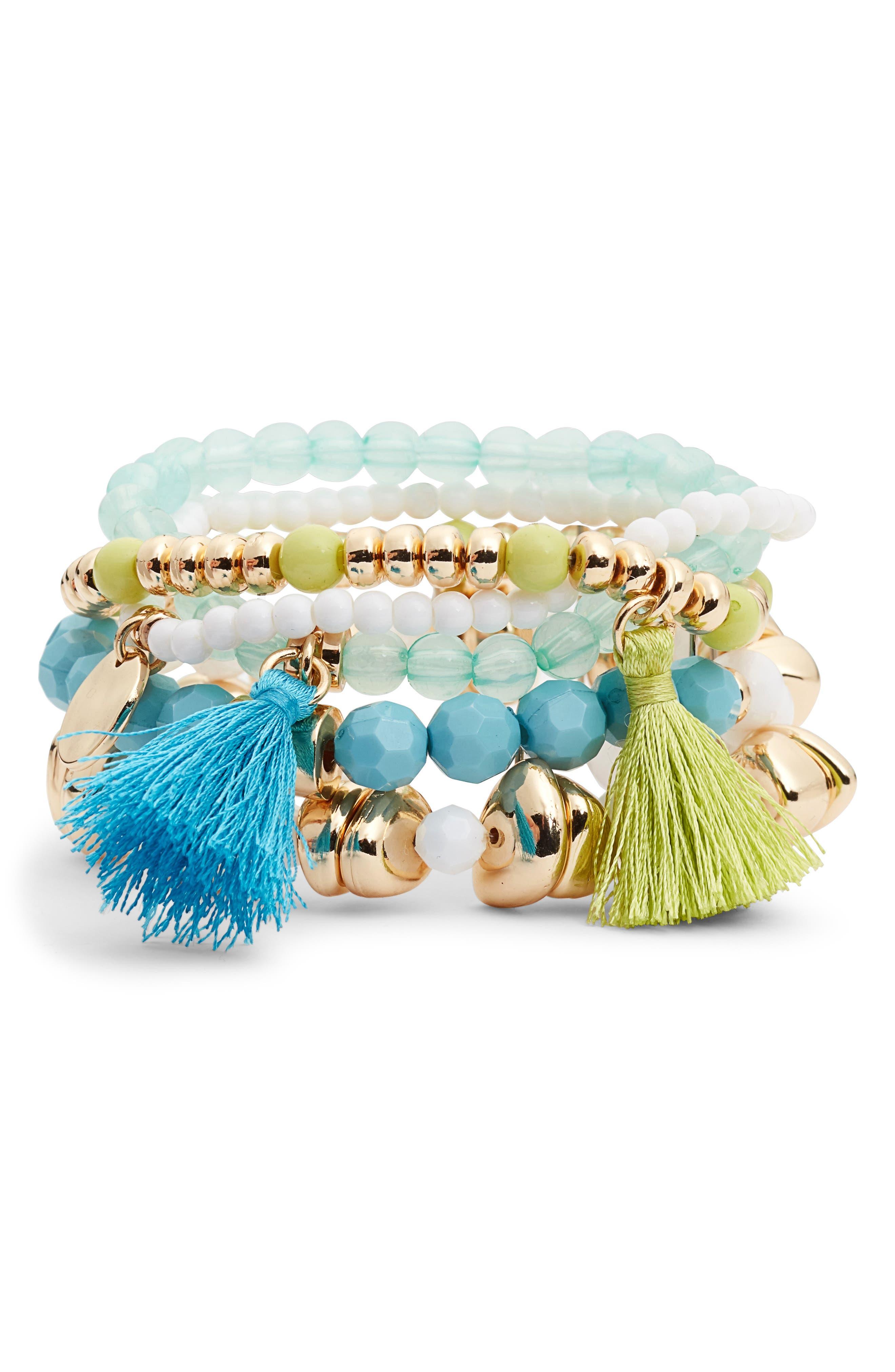 Surf Seafari 5-Piece Stretch Bracelet Set,                         Main,                         color, 403