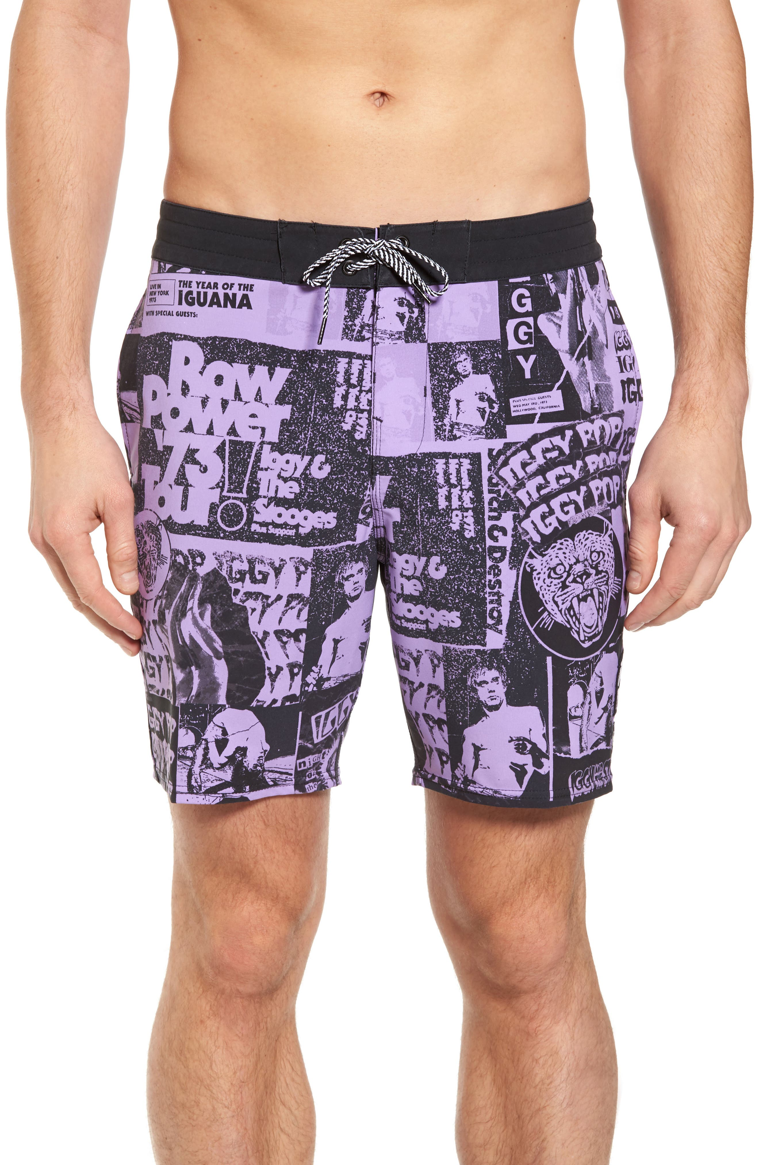 x Iggy Pop Sundays Poster LT Board Shorts,                         Main,                         color, 500