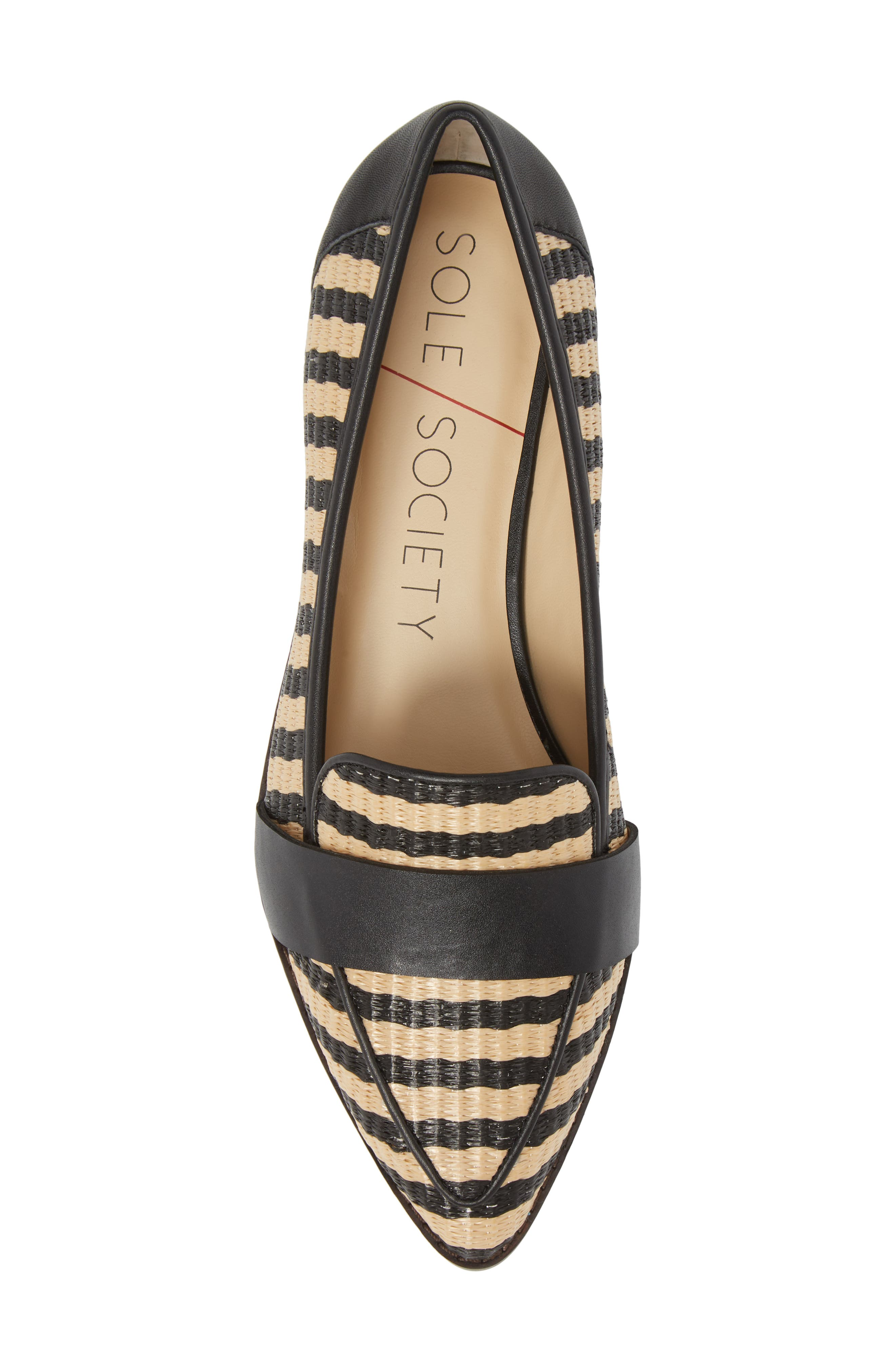 SOLE SOCIETY,                             Edie Loafer,                             Alternate thumbnail 5, color,                             NATURAL/ BLACK