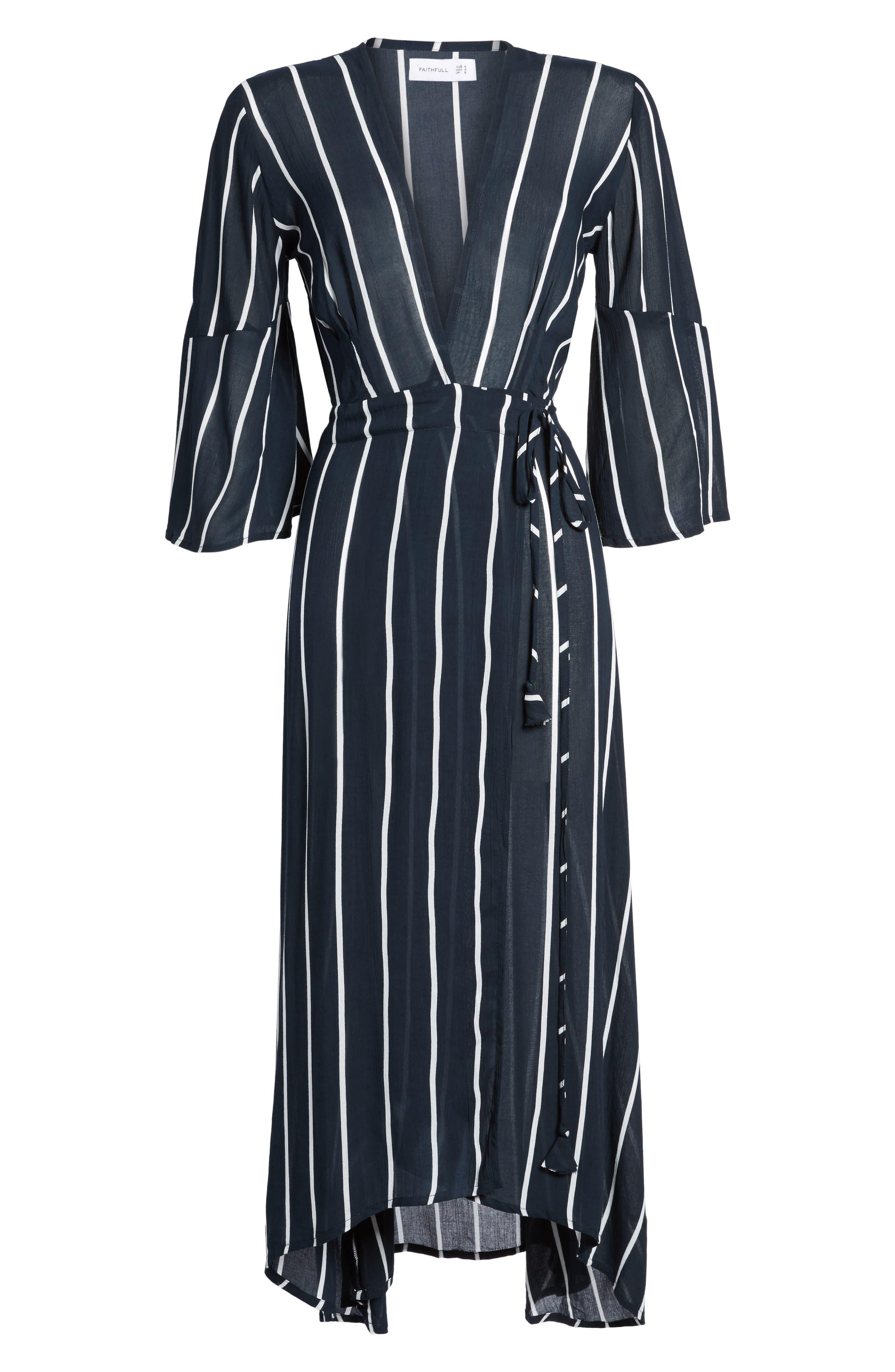Amour Wrap Dress,                             Alternate thumbnail 6, color,                             400