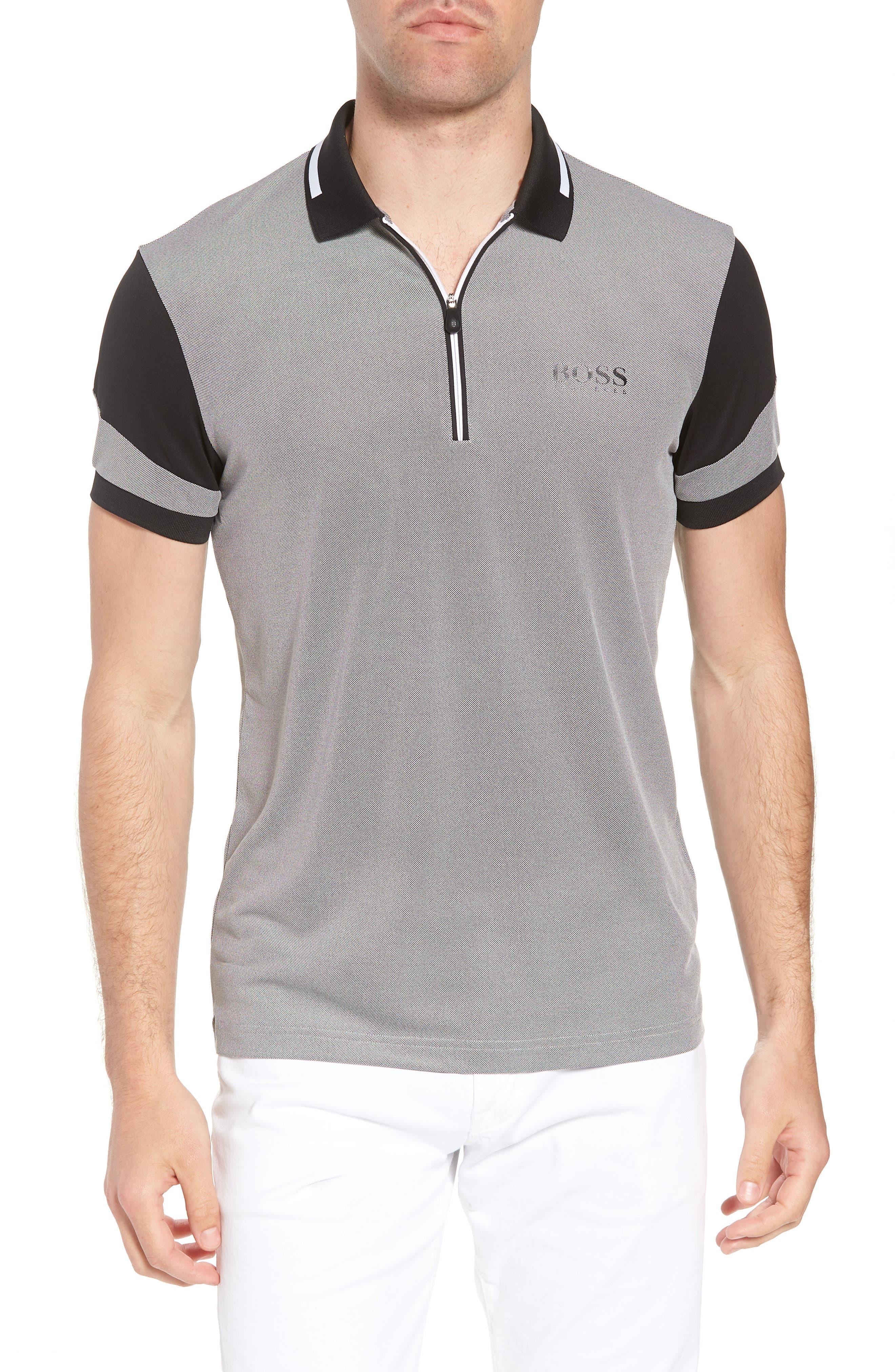 Pro Slim Fit Golf Polo,                             Main thumbnail 1, color,                             001