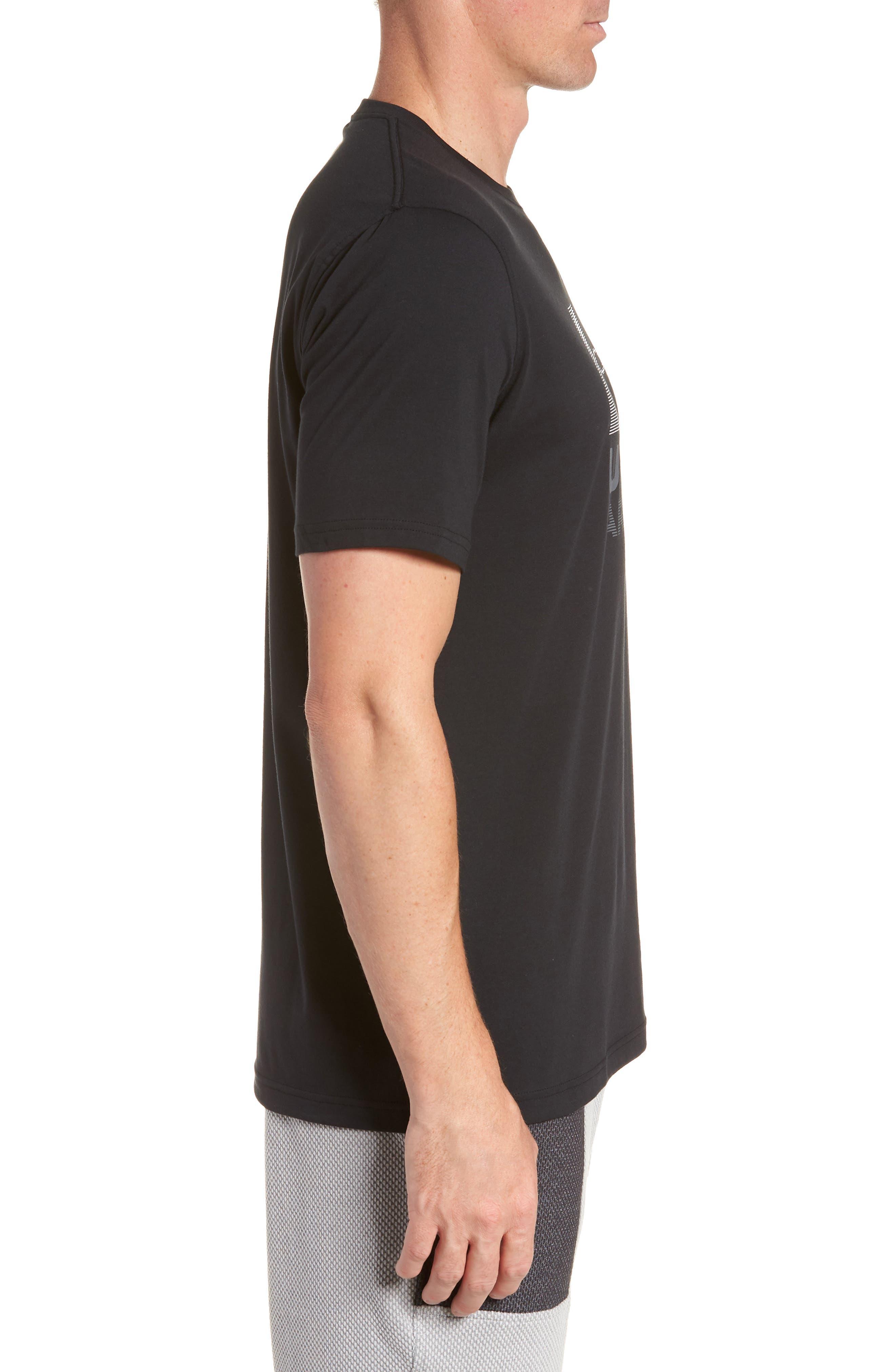 Trim Fit Vanish Logo T-Shirt,                             Alternate thumbnail 3, color,                             BLACK/ WHITE/ GRAPHITE