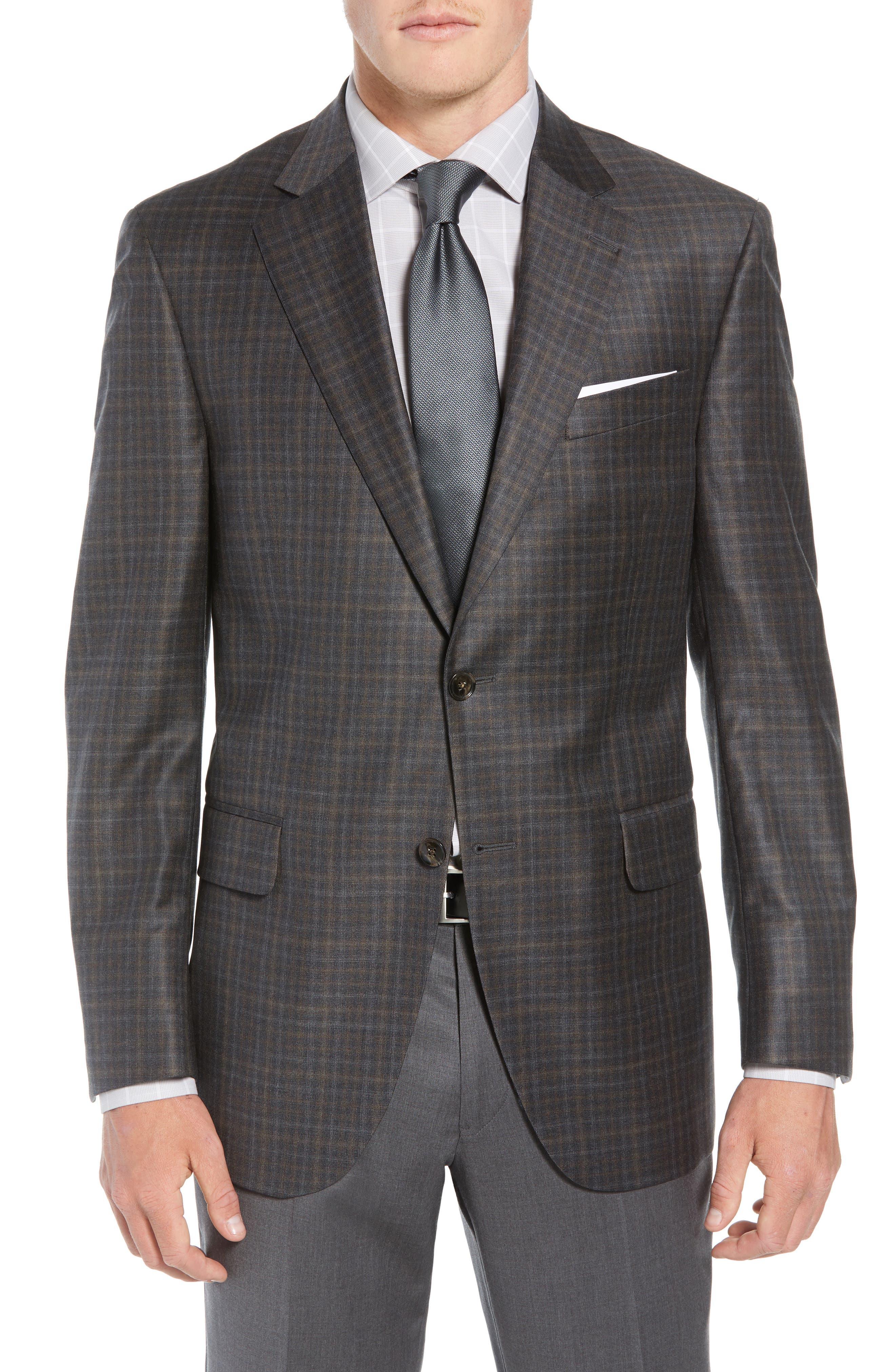 Classic Fit Wool Sport Coat,                         Main,                         color, BROWN