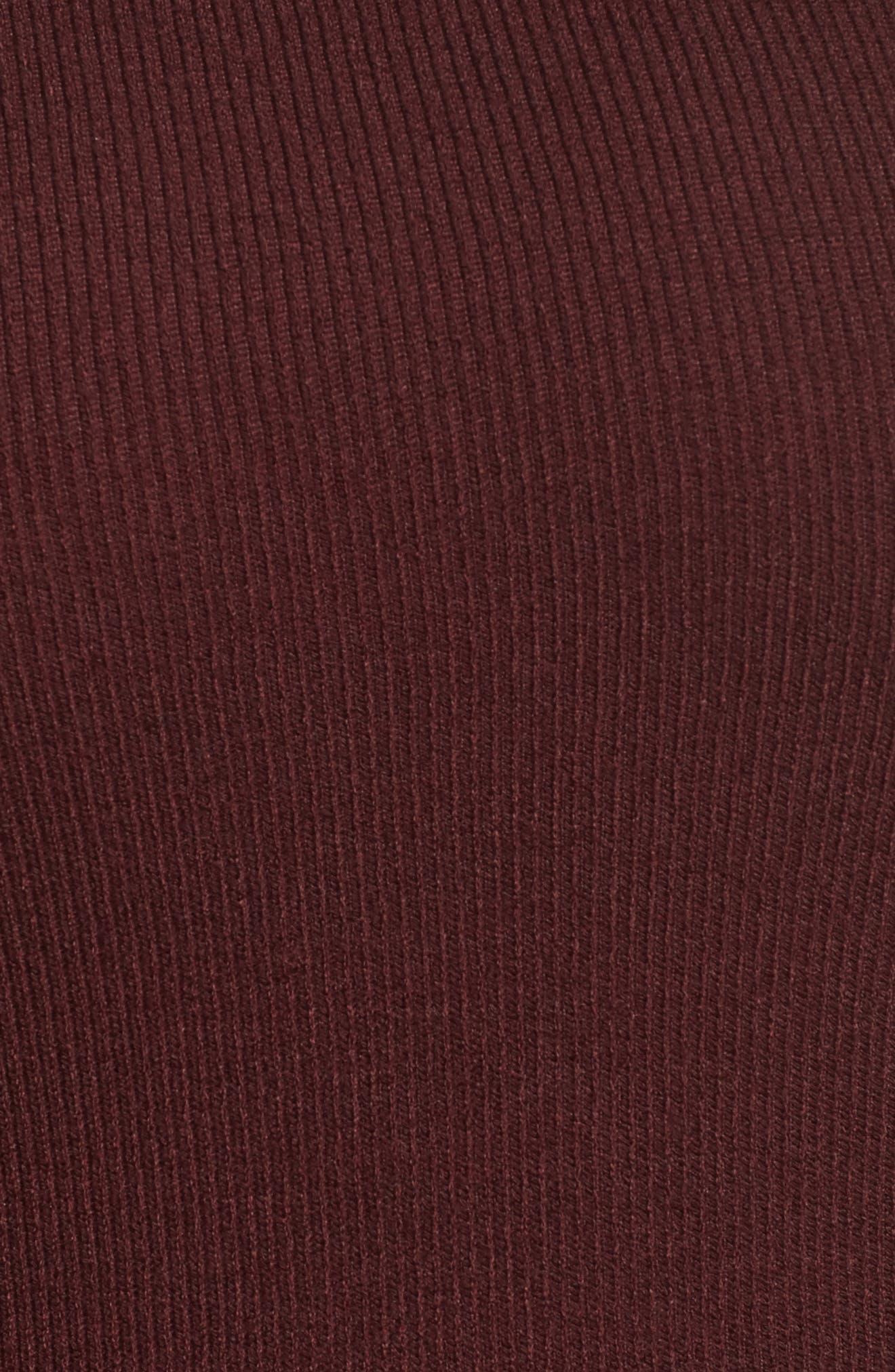 Shoulder Cutout Knit Dress,                             Alternate thumbnail 5, color,                             600